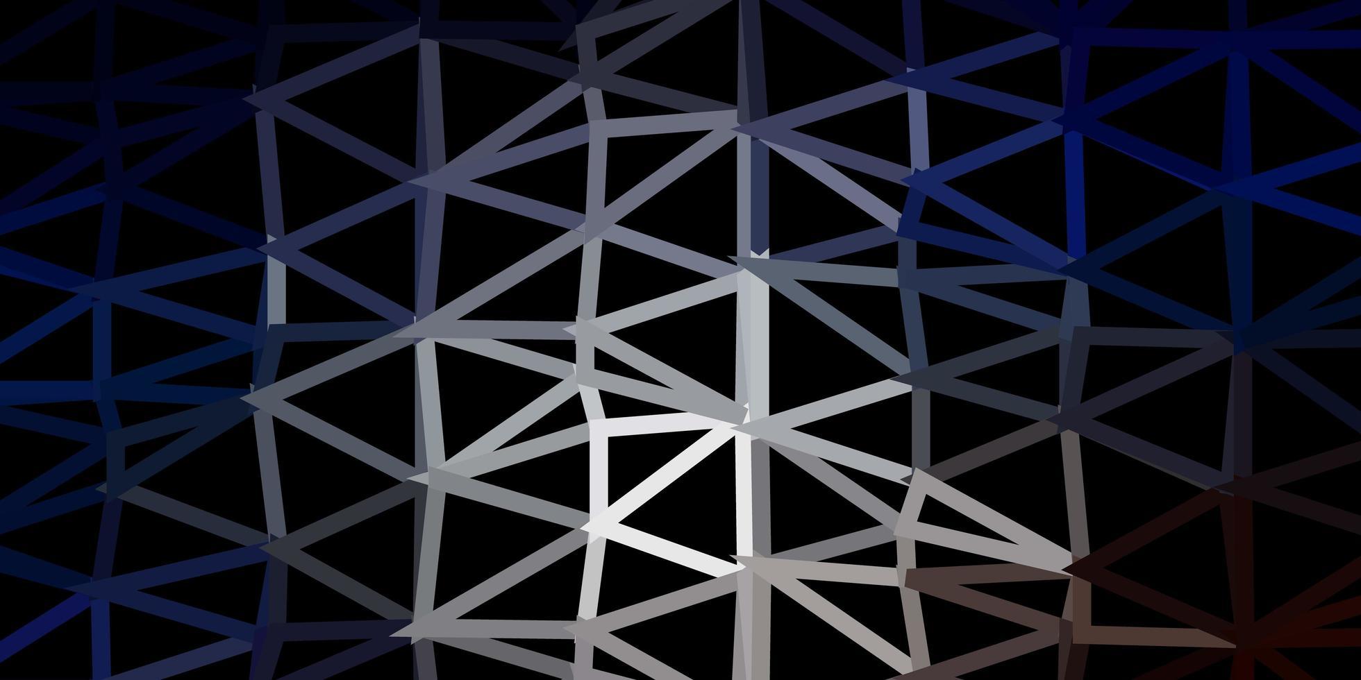 mörkblå, gul vektor gradient polygon tapet.