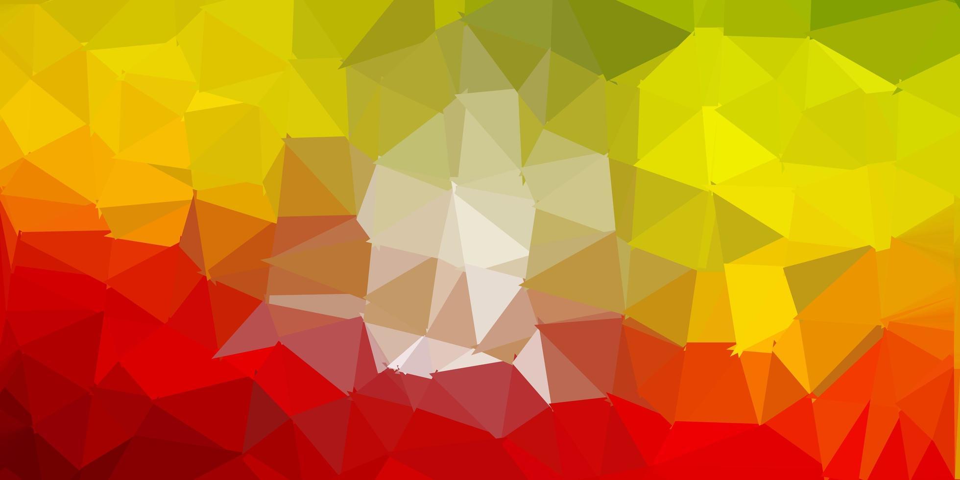 ljusgrön, röd vektor abstrakt triangelbakgrund.