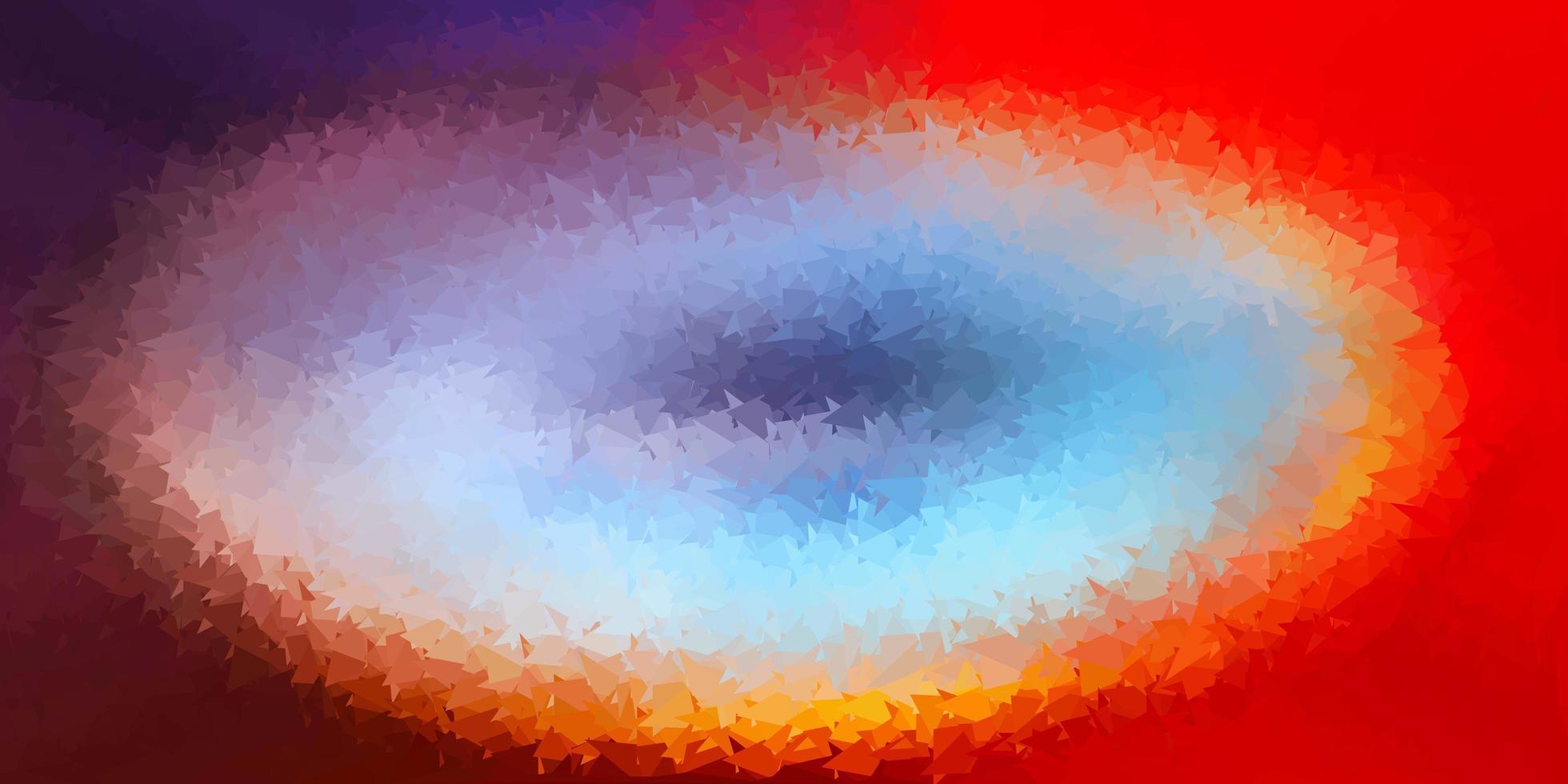 ljusblått, rött månghörnigt mönster. vektor