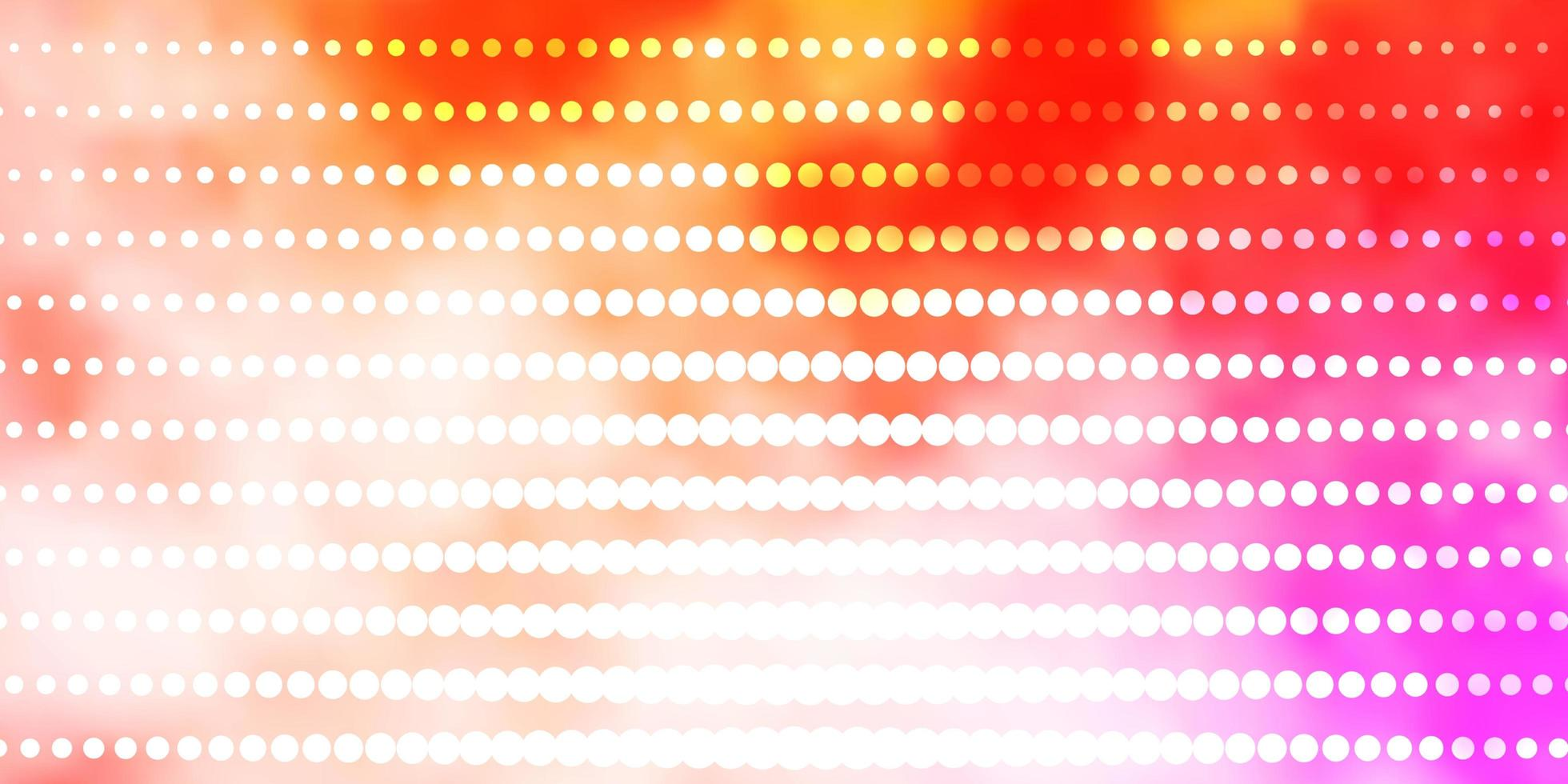 ljusrosa, gul vektorbakgrund med cirklar. vektor