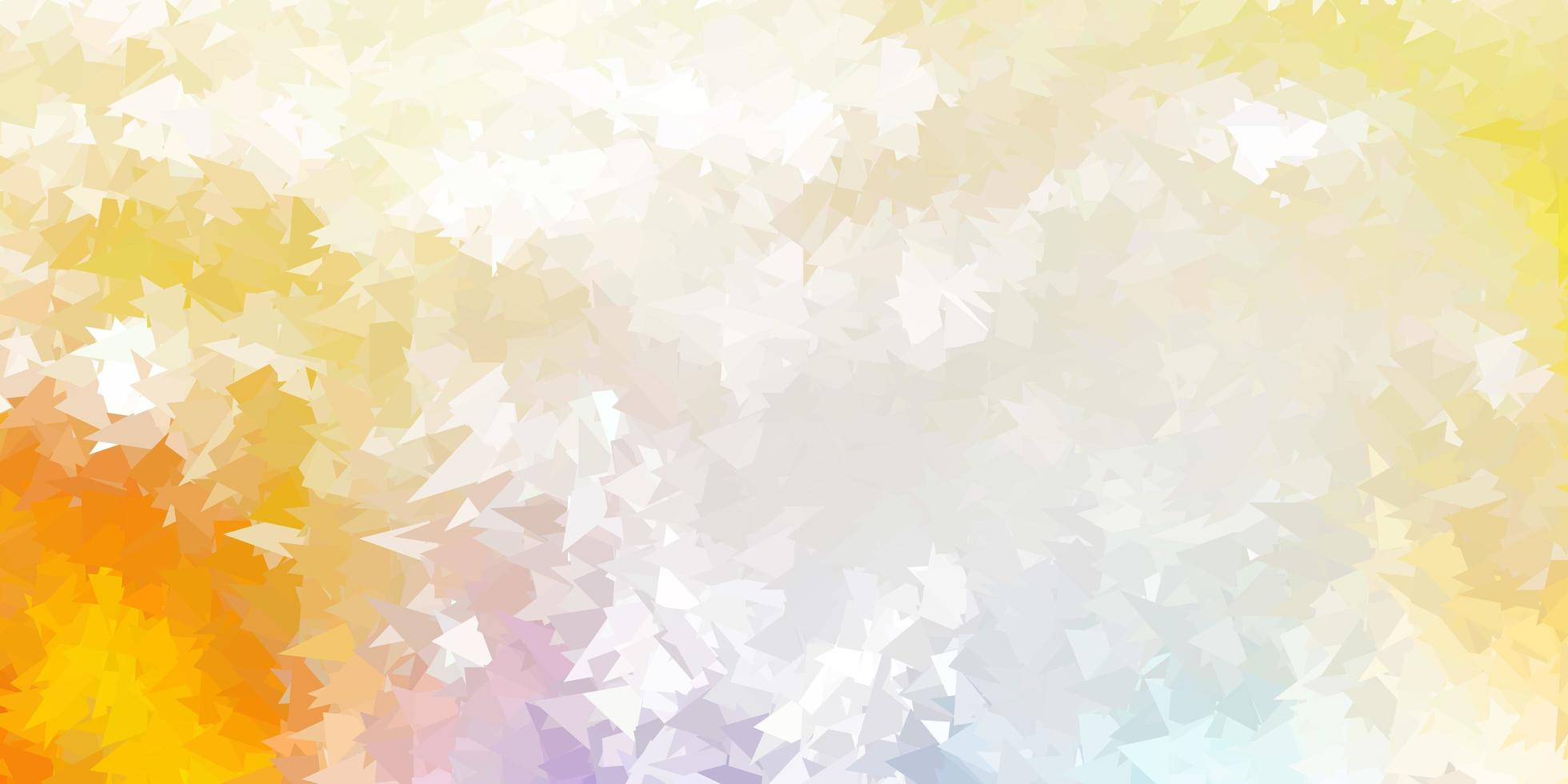 hellblaues, gelbes Vektorverlaufspolygonlayout. vektor
