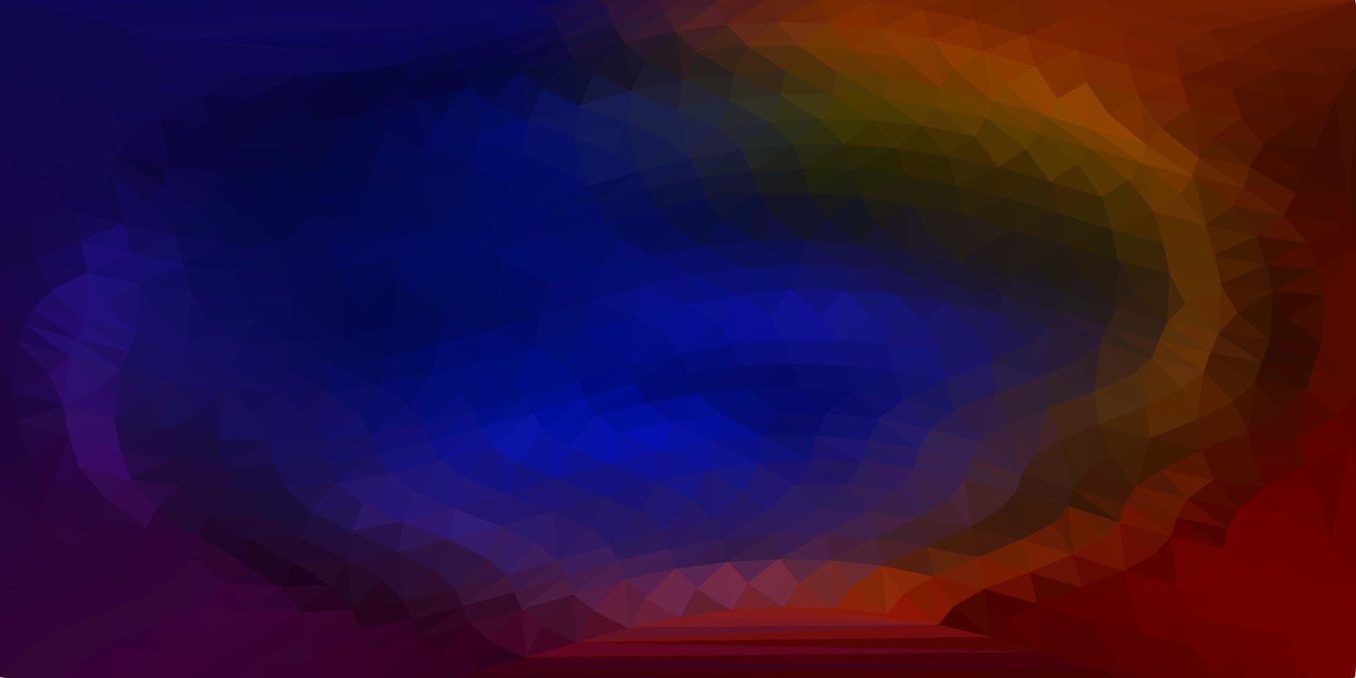 mörkblå, gul vektor abstrakt triangelbakgrund.