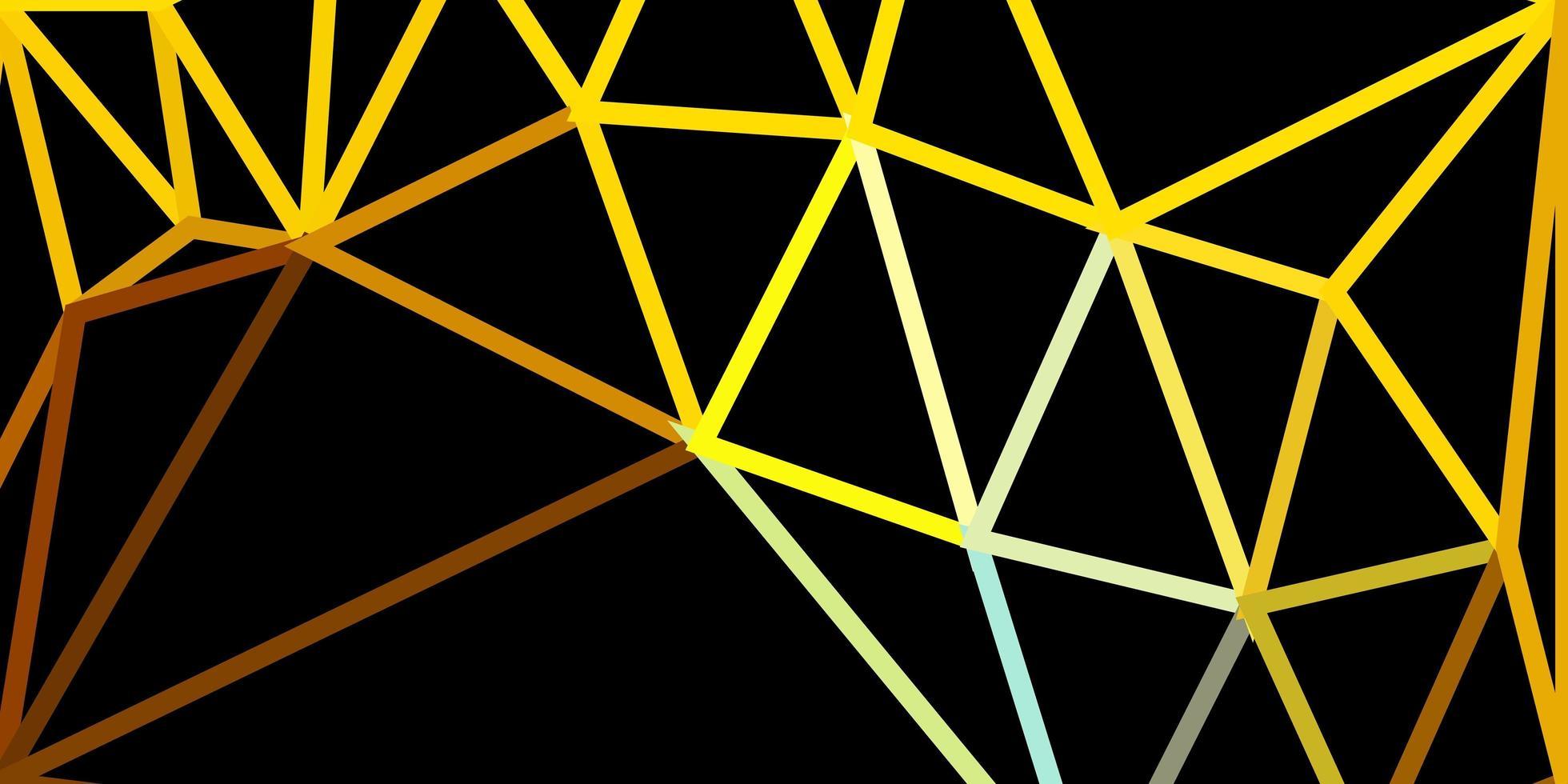 hellblaue, gelbe Vektorgradienten-Polygontapete. vektor