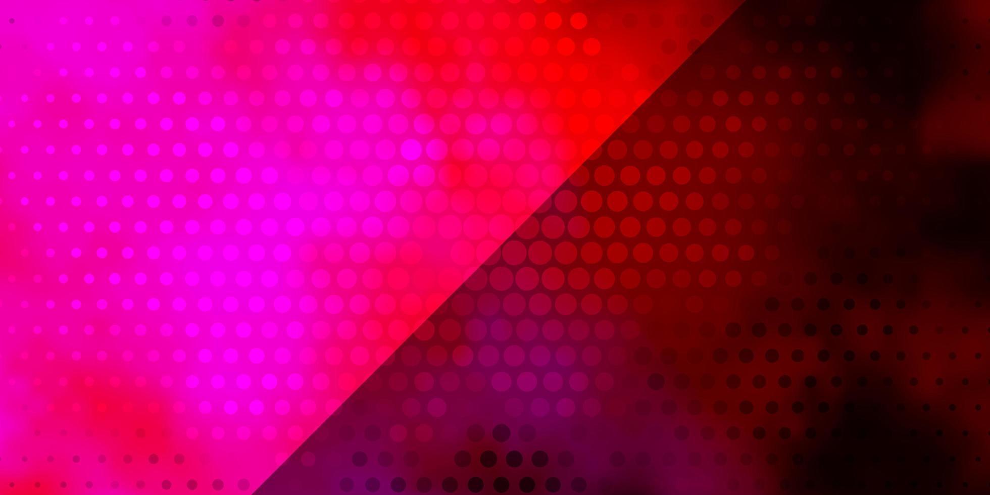 dunkelvioletter, rosa Vektorhintergrund mit Kreisen vektor