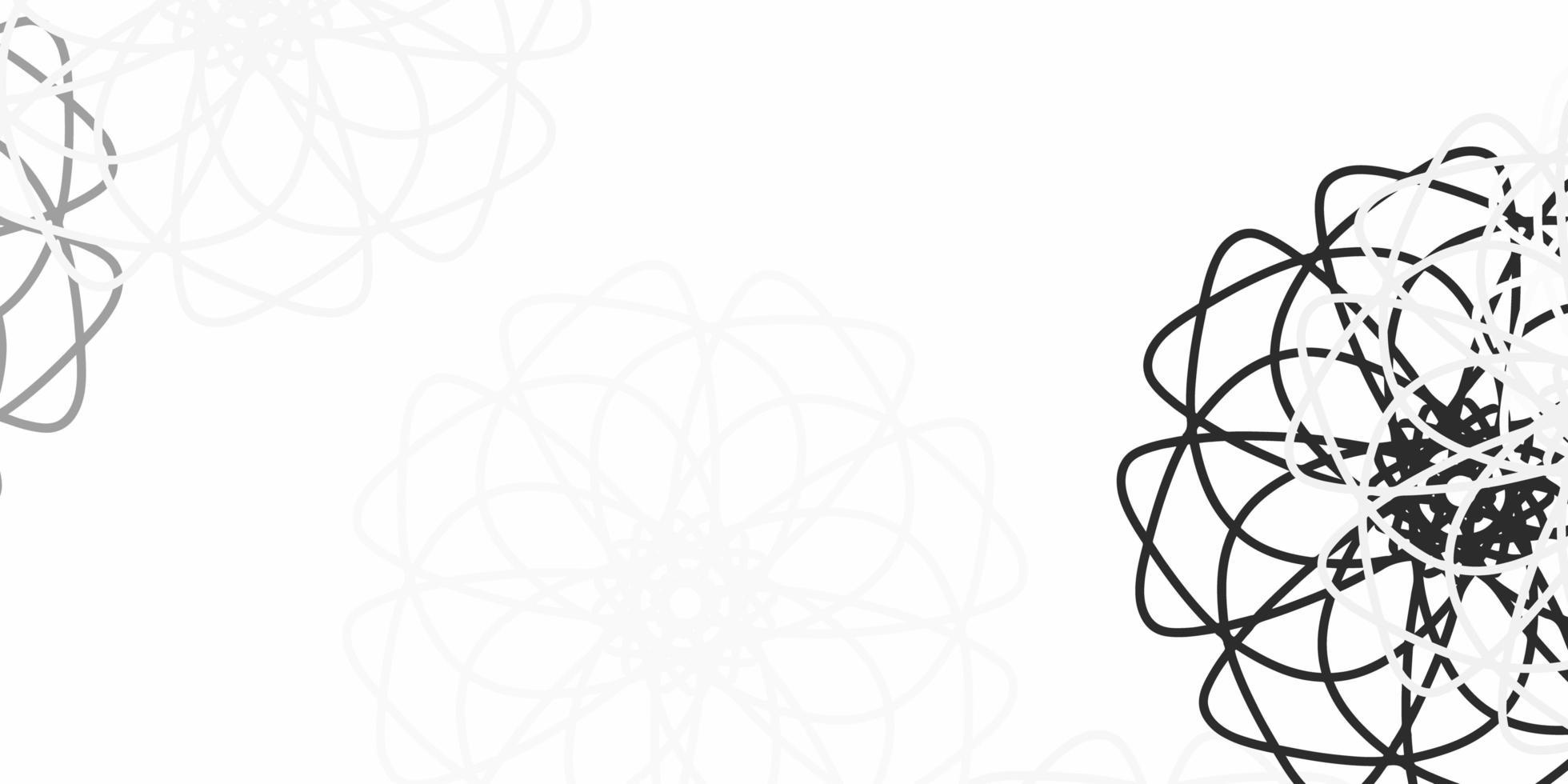 ljusgrå naturliga konstverk med blommor. vektor