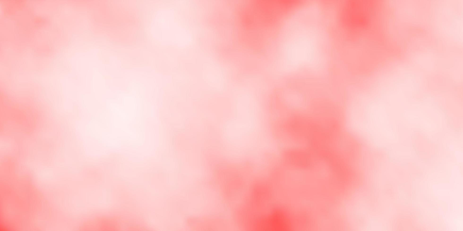 hellroter Vektorhintergrund mit Wolken. vektor