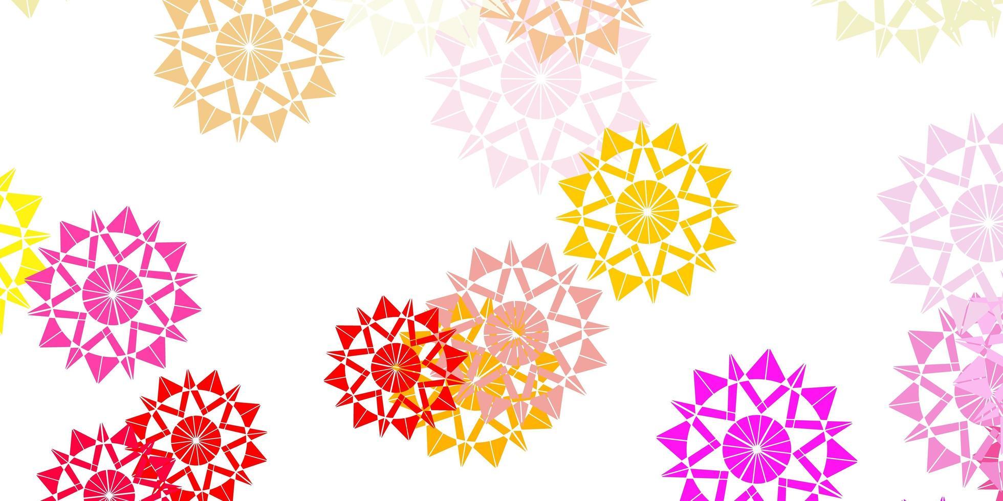 schöne mehrfarbige Vektor schöne Schneeflocken Hintergrund mit Blumen.