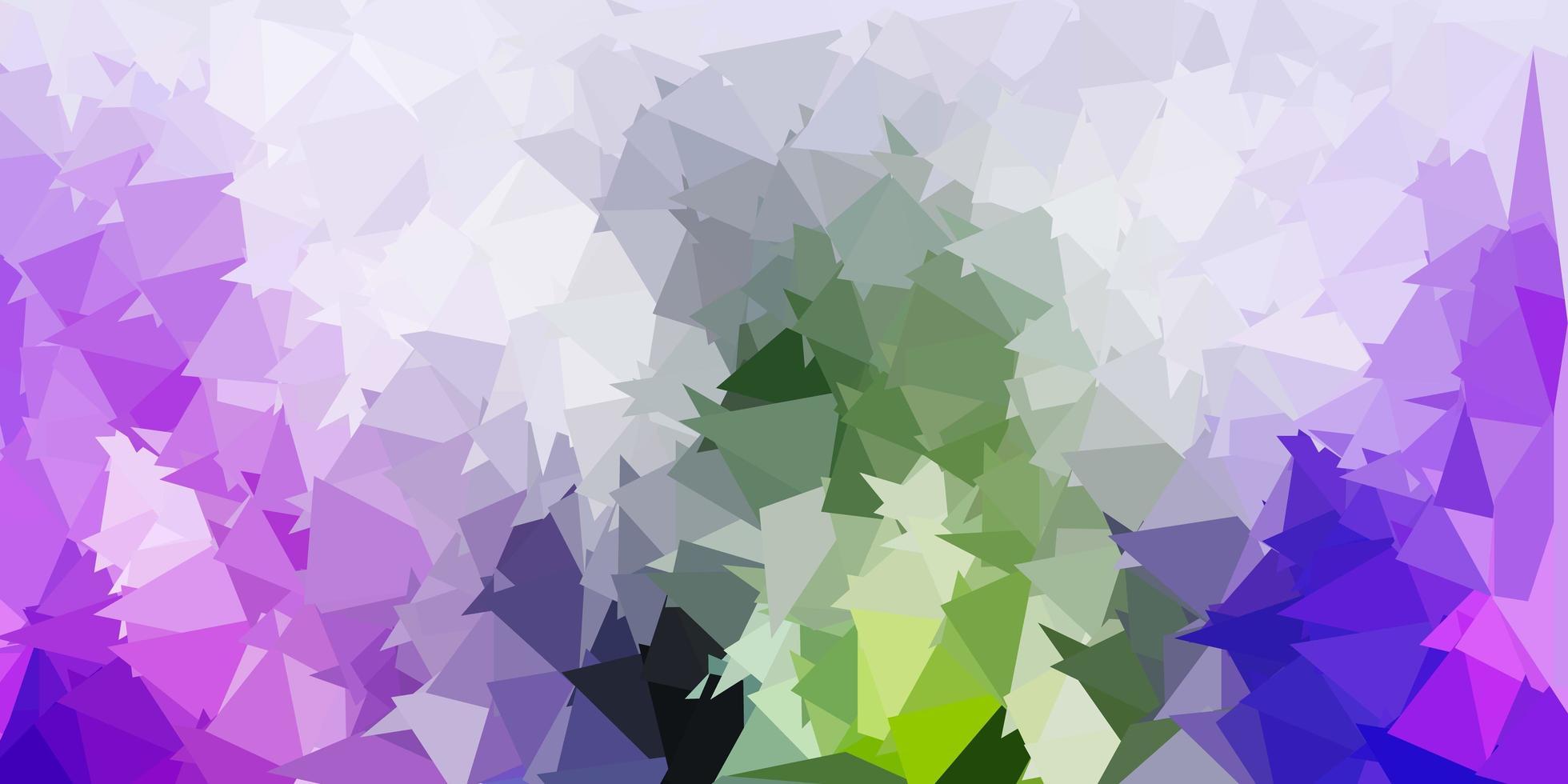 ljusrosa, grön vektor abstrakt triangel mall.