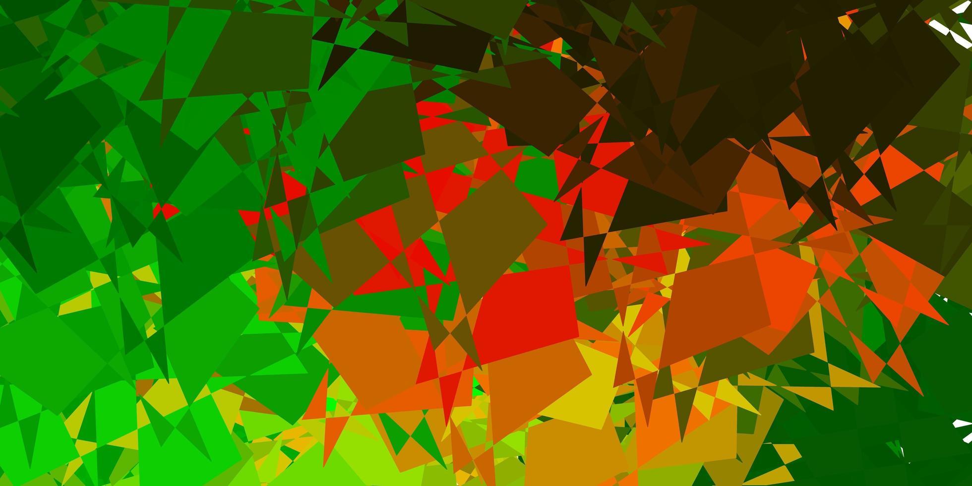 dunkelgrüner, gelber Vektorhintergrund mit zufälligen Formen. vektor