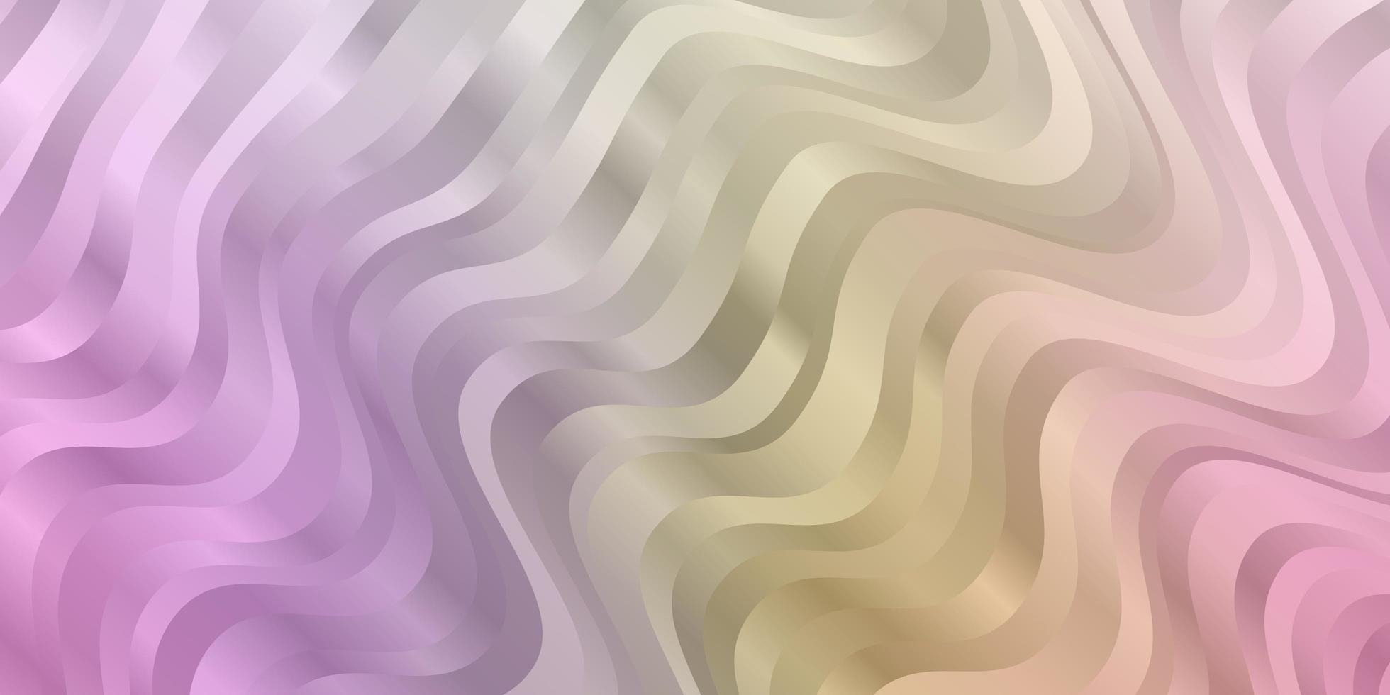 ljus flerfärgad vektorbakgrund med böjda linjer. vektor
