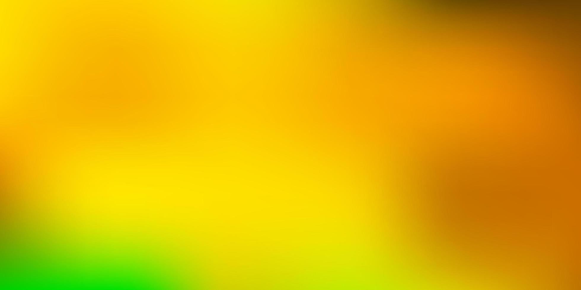 mörkgrön, gul vektor suddig konsistens.