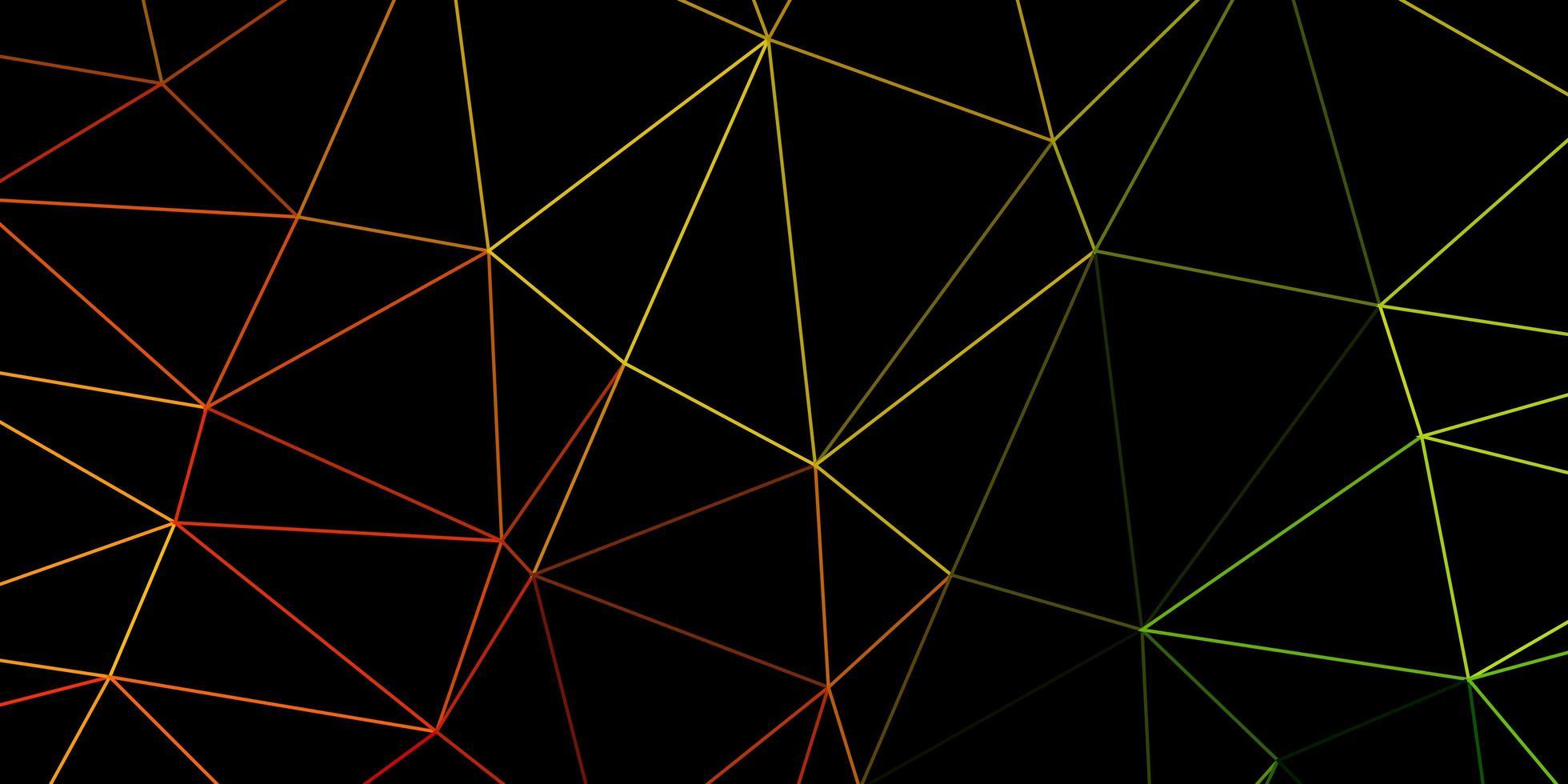 ljusgrönt, gult månghörnigt mönster. vektor