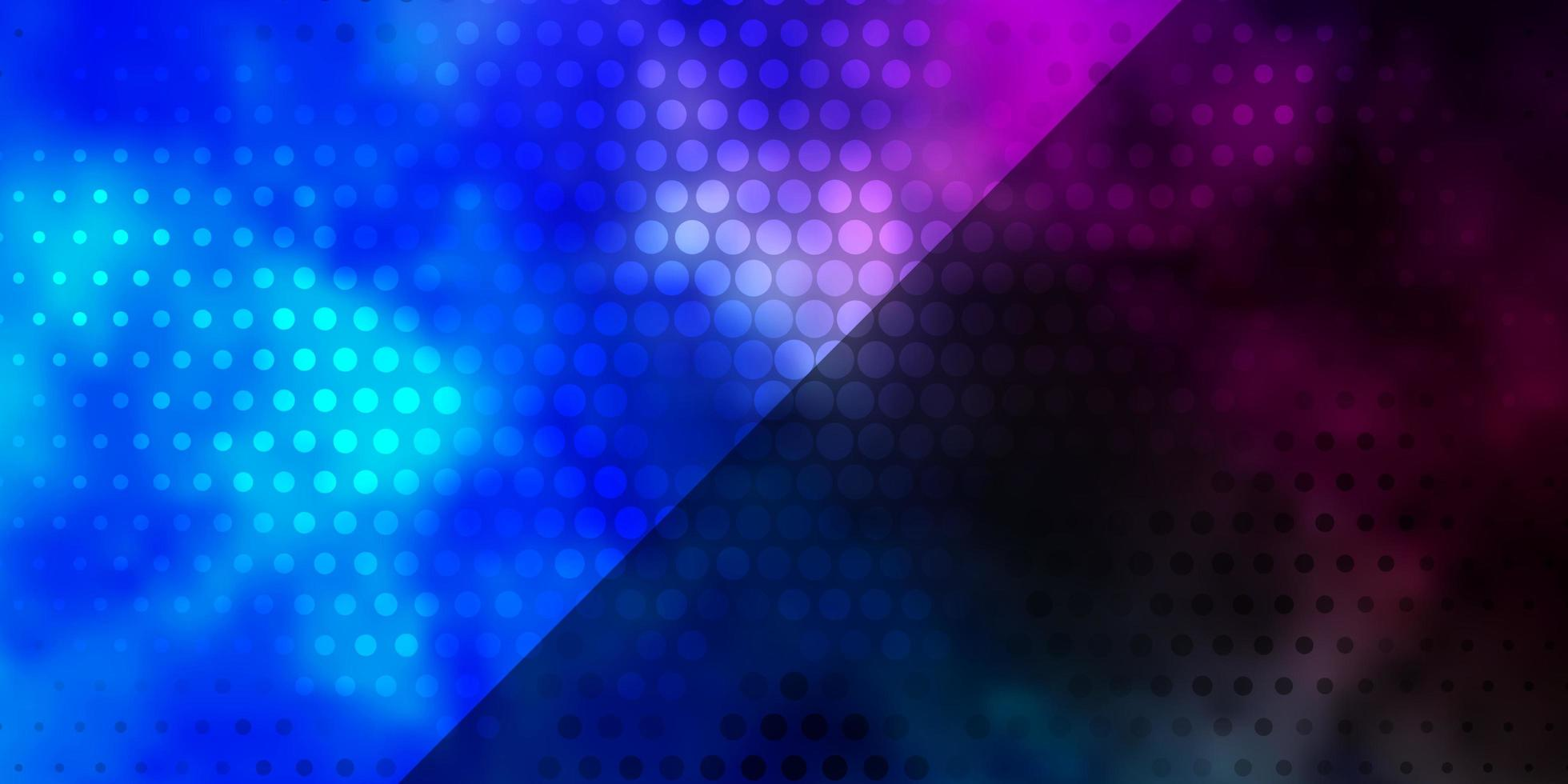 dunkelrosa, blaues Vektormuster mit Kreisen. vektor