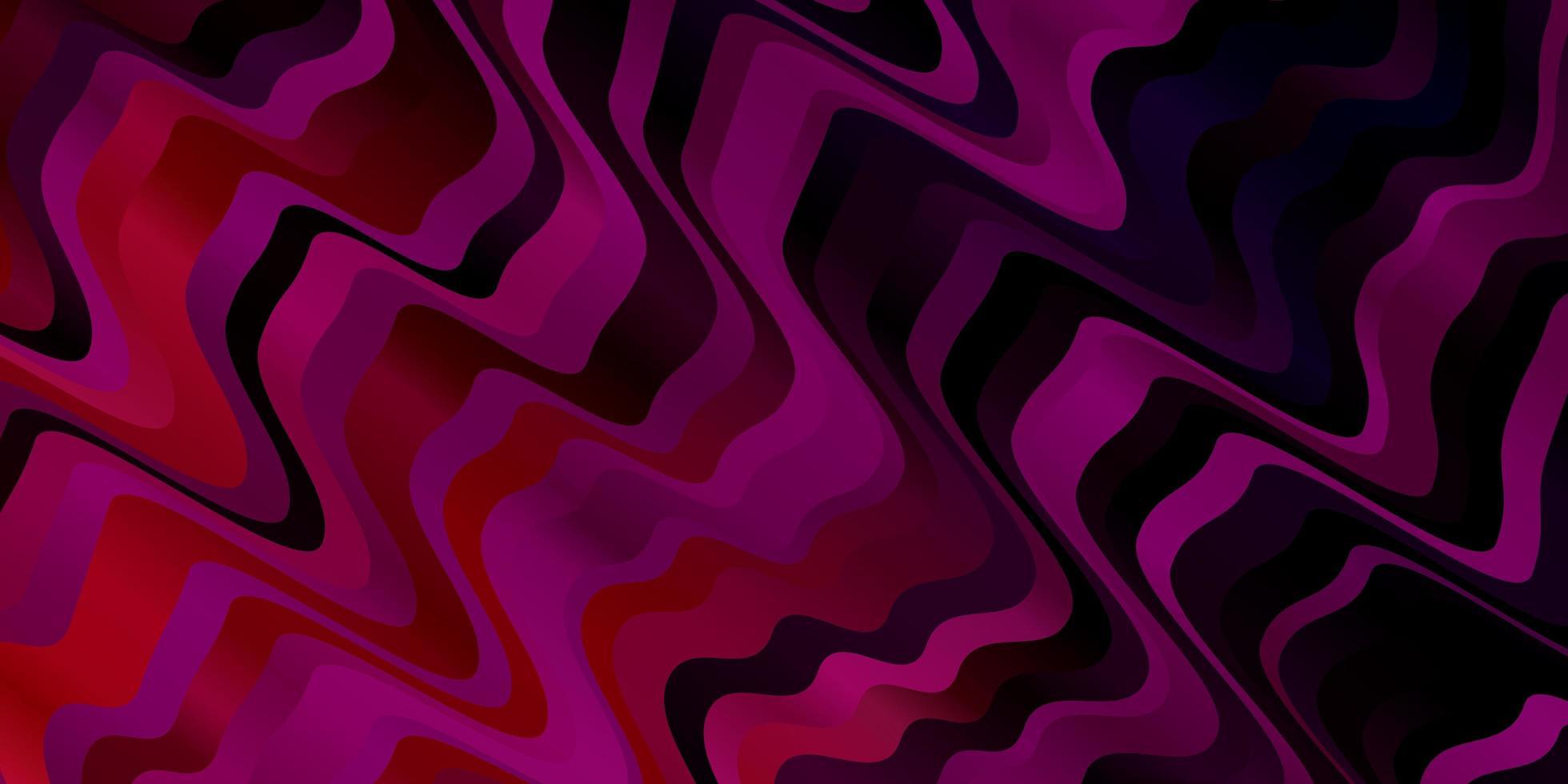 dunkelrosa Vektorhintergrund mit Kreisbogen. vektor