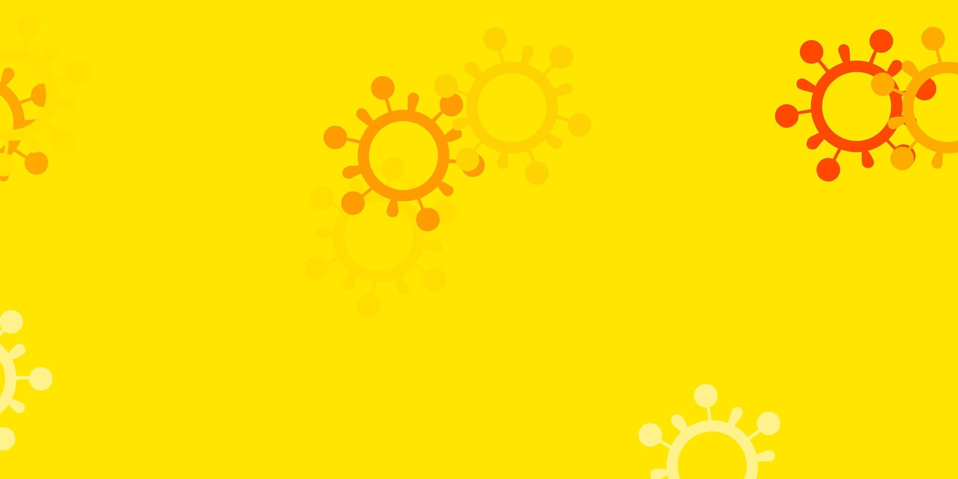 helloranger Vektorhintergrund mit covid-19 Symbolen. vektor