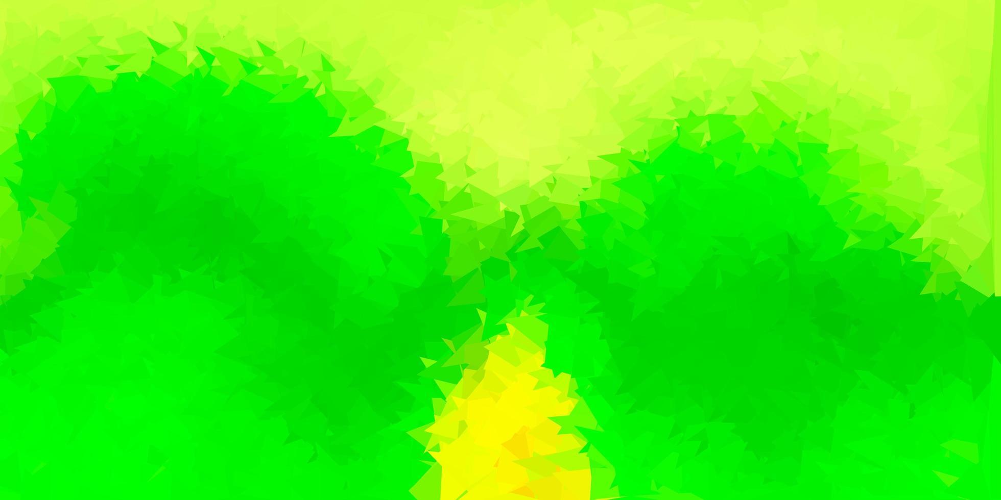 mörkgrön, gul triangelmosaikmönster. vektor