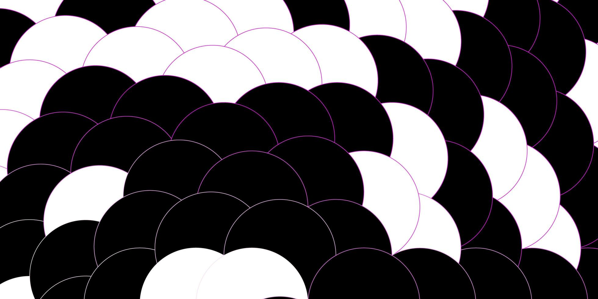 dunkelviolettes, rosa Vektorlayout mit Kreisformen. vektor