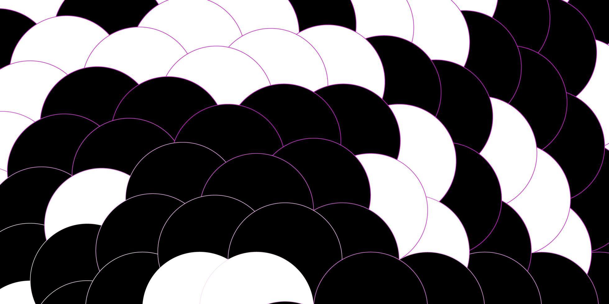 mörk lila, rosa vektor layout med cirkel former.