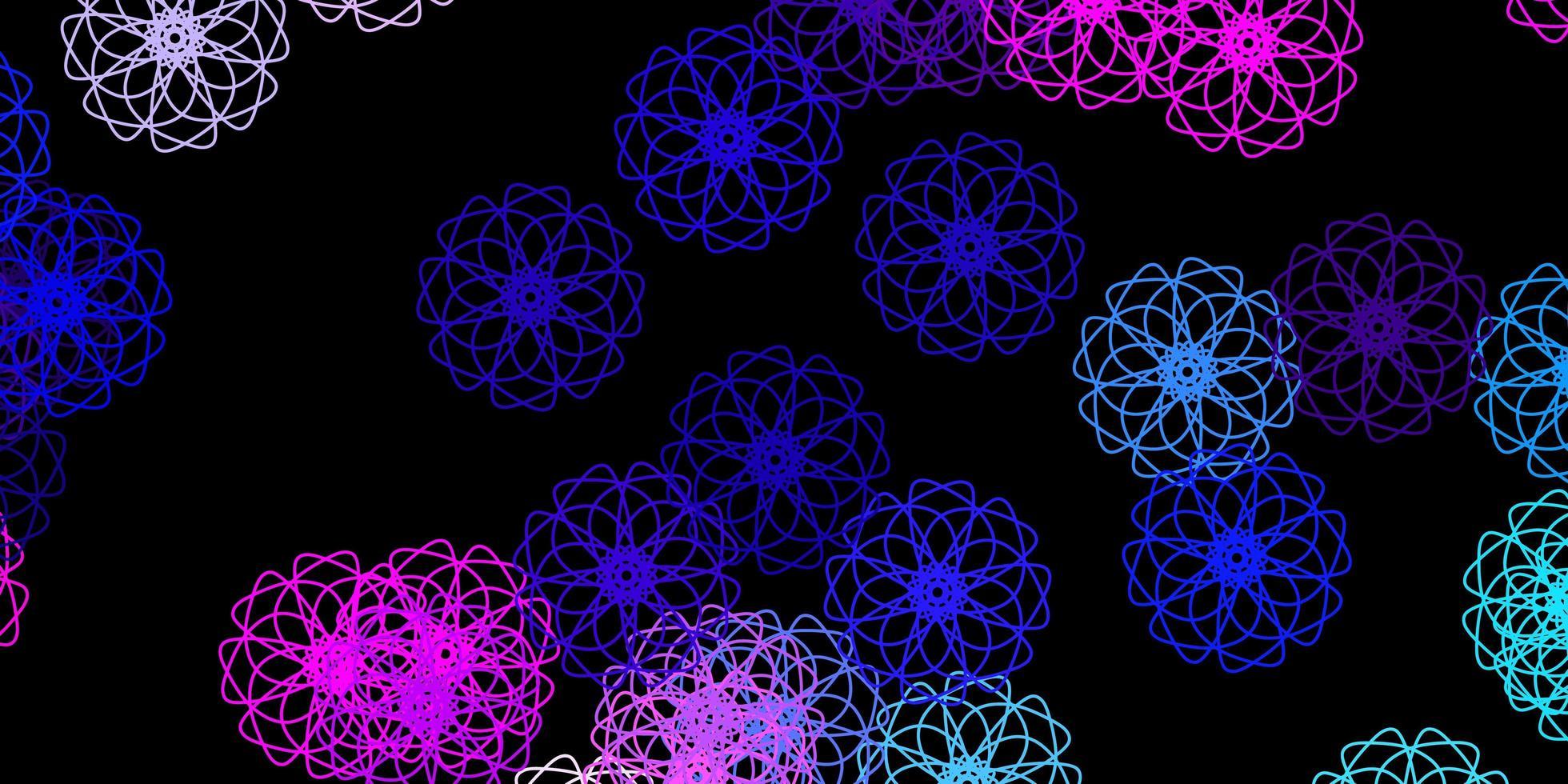dunkelrosa, blauer Vektorhintergrund mit chaotischen Formen. vektor