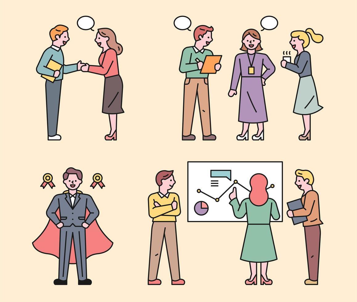 affärsmän arbetar som ett team. vektor