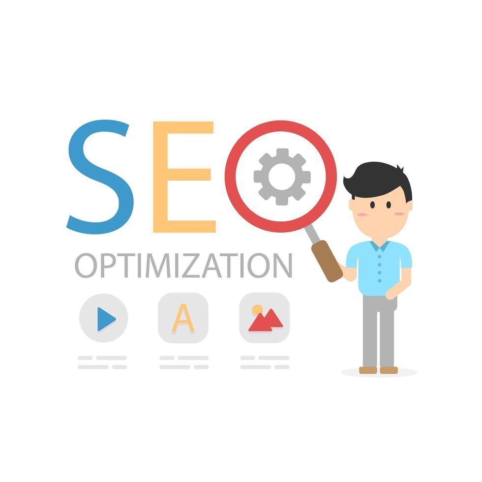 SEO-optimering för webbplats och mobilwebbplats vektor
