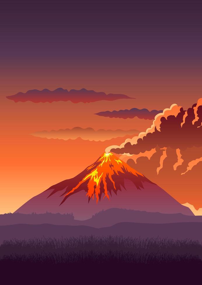 vulkan vektorillustration vektor