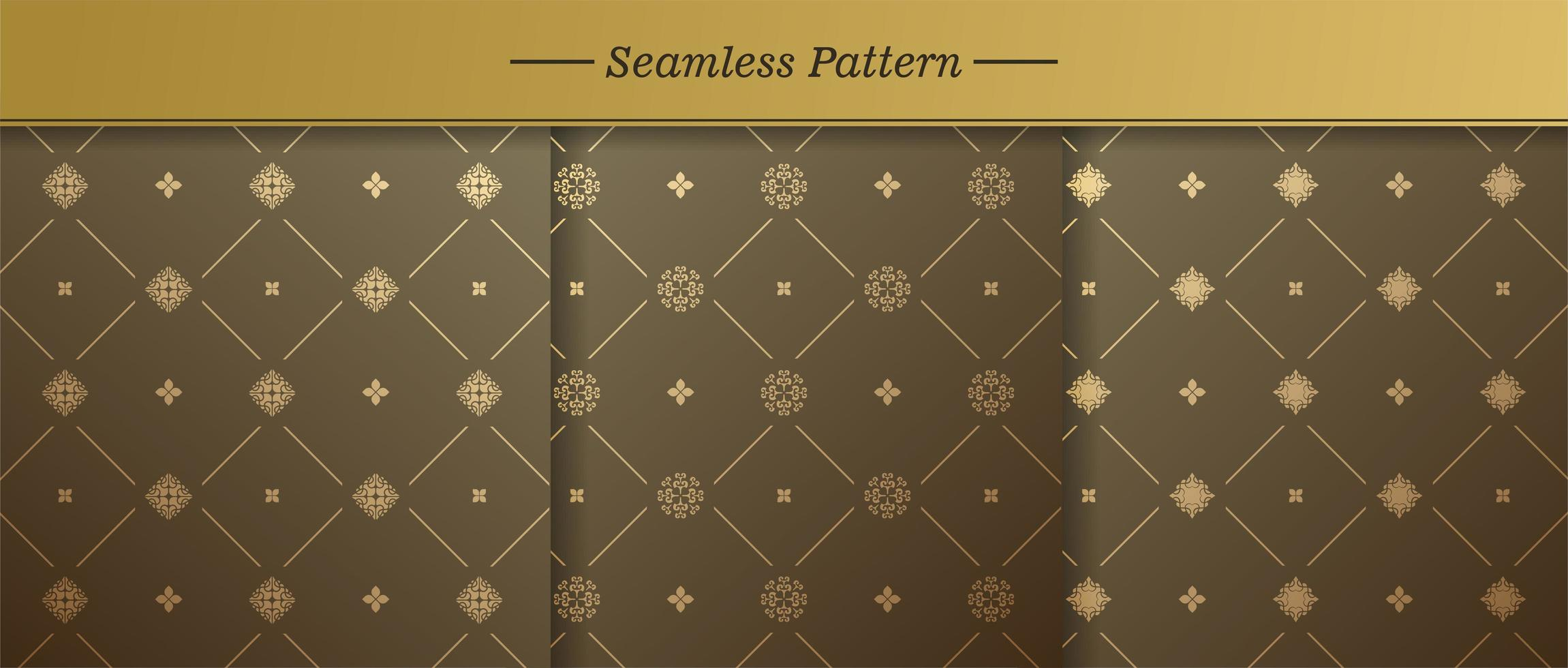Premium Muster Vektor Hintergrund gesetzt