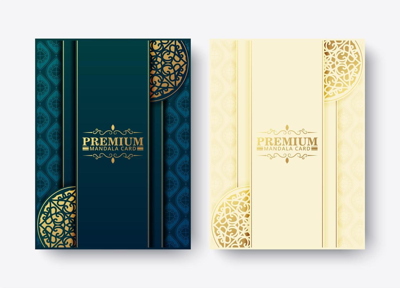 lyx premium mandala meny design set vektor
