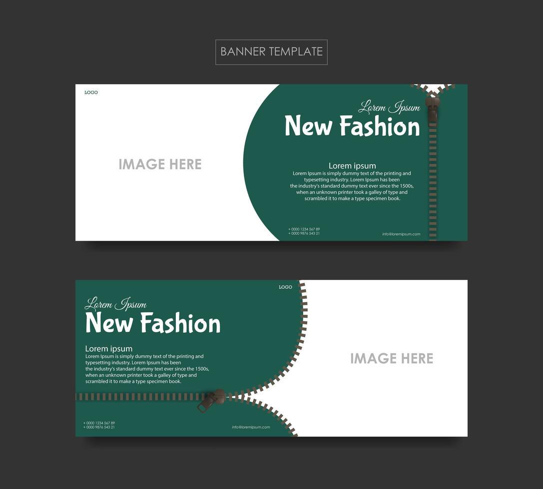 ställa in banner mallar för mode företag vektor