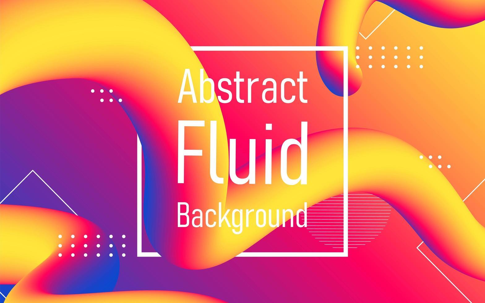 fließender abstrakter Fluss mit Rahmenhintergrund. vektor