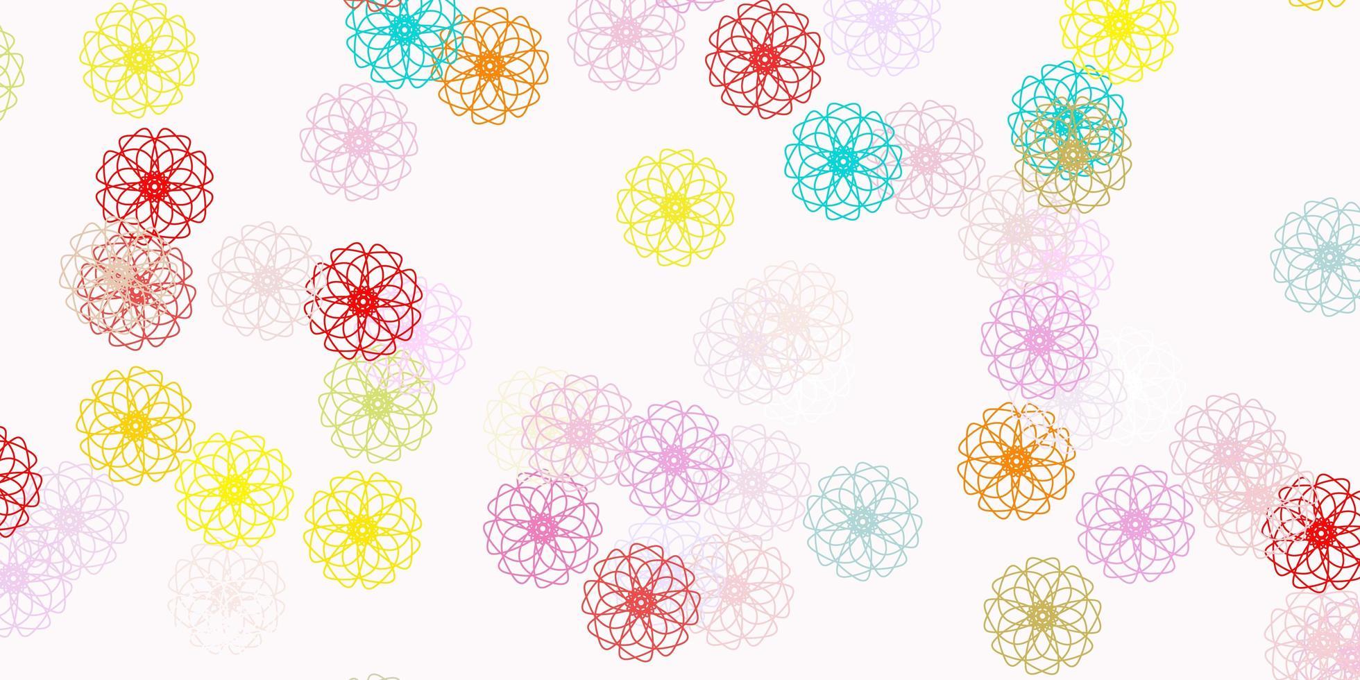 ljus flerfärgad vektor naturlig layout med blommor.