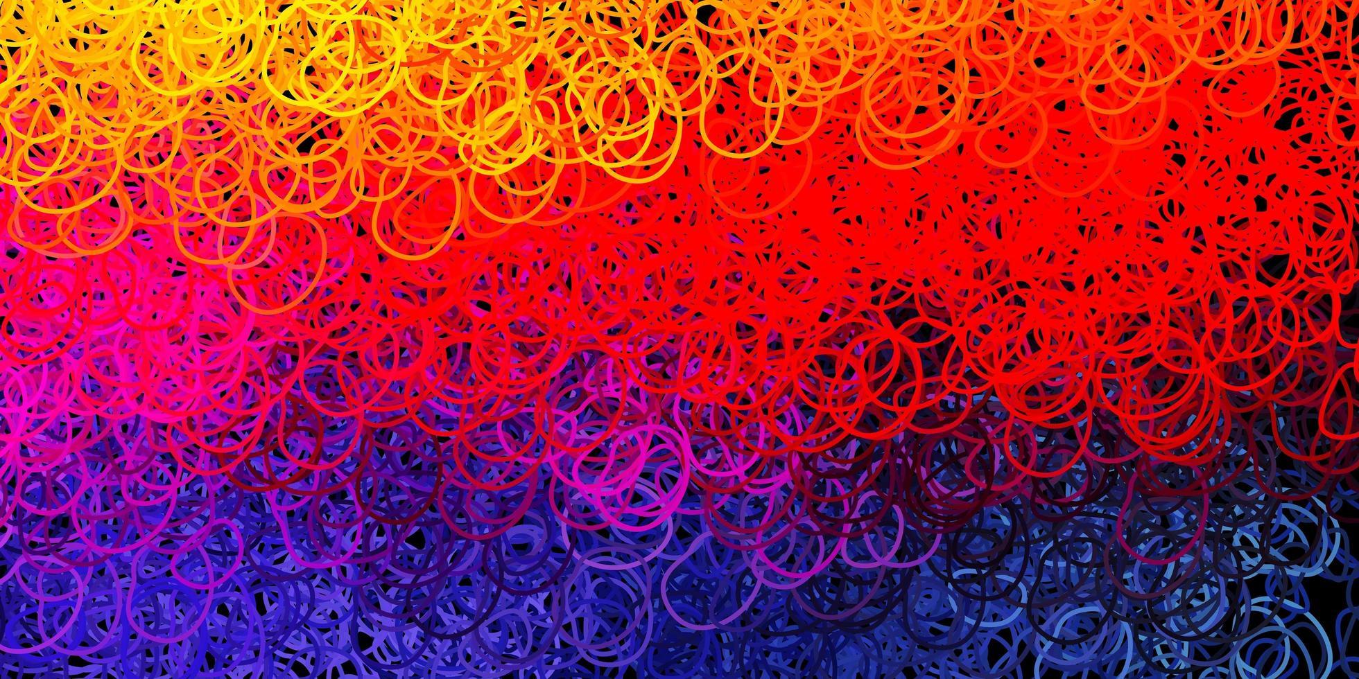 mörkrosa, gul vektorbakgrund med kaotiska former. vektor