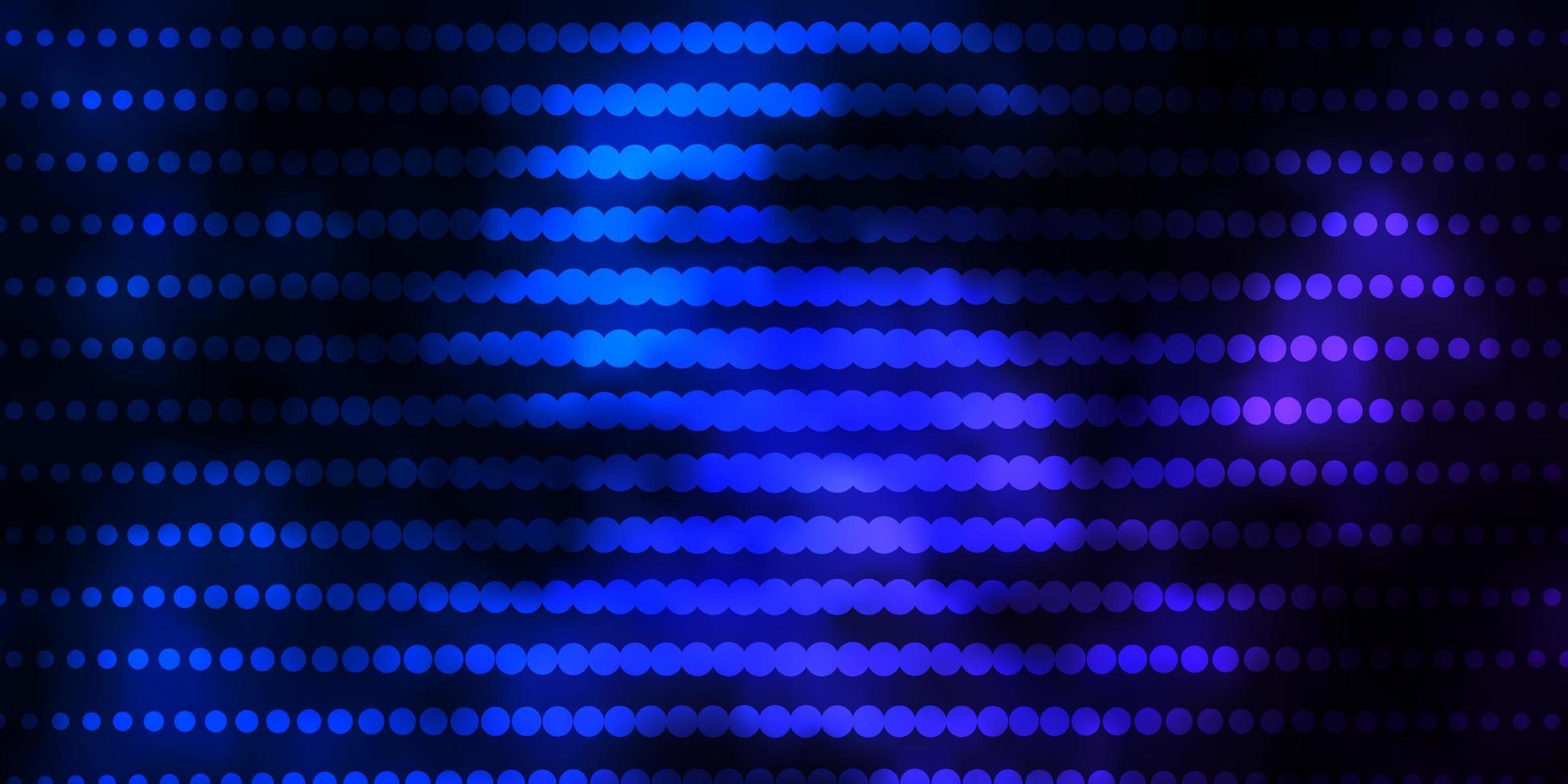 dunkelrosa, blaues Vektorlayout mit Kreisen. vektor