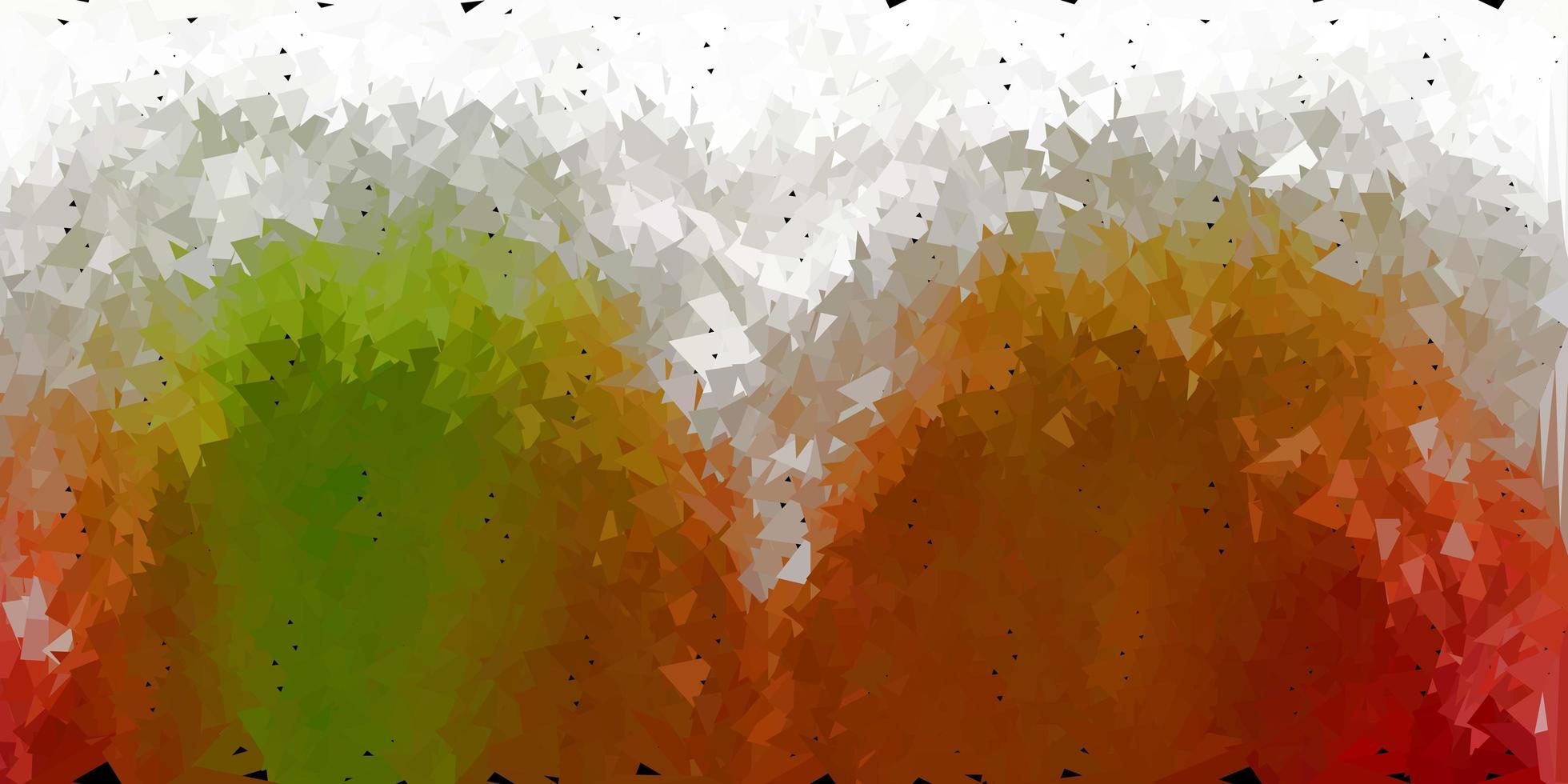 abstrakter Dreieckhintergrund des dunkelgrünen, gelben Vektors. vektor