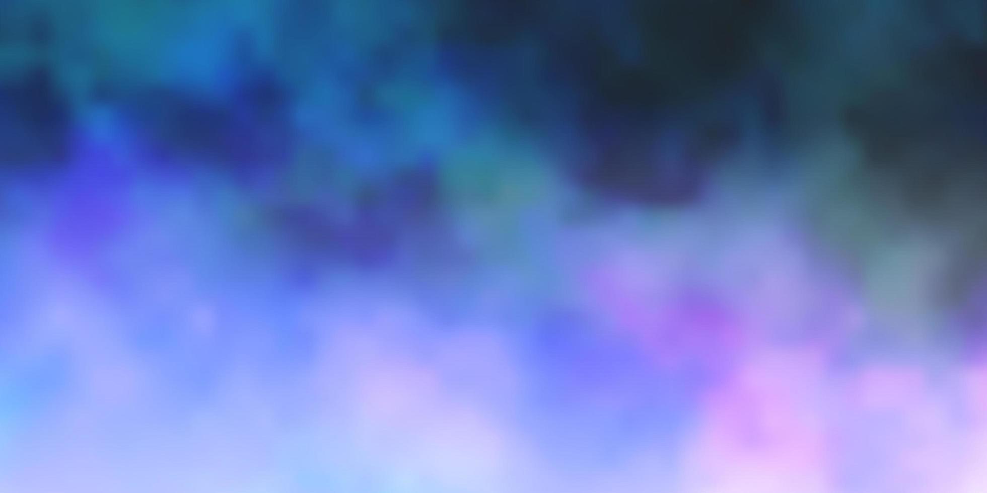 mörkrosa, blå vektormönster med moln. vektor