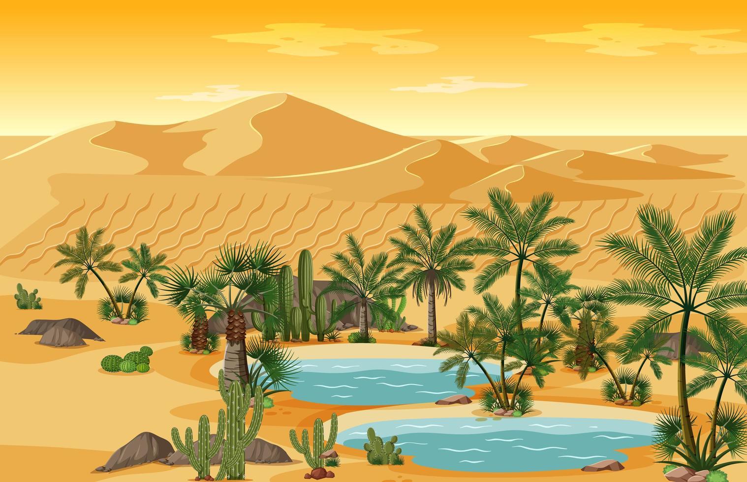 Mellanöstern landskap bakgrund vektor