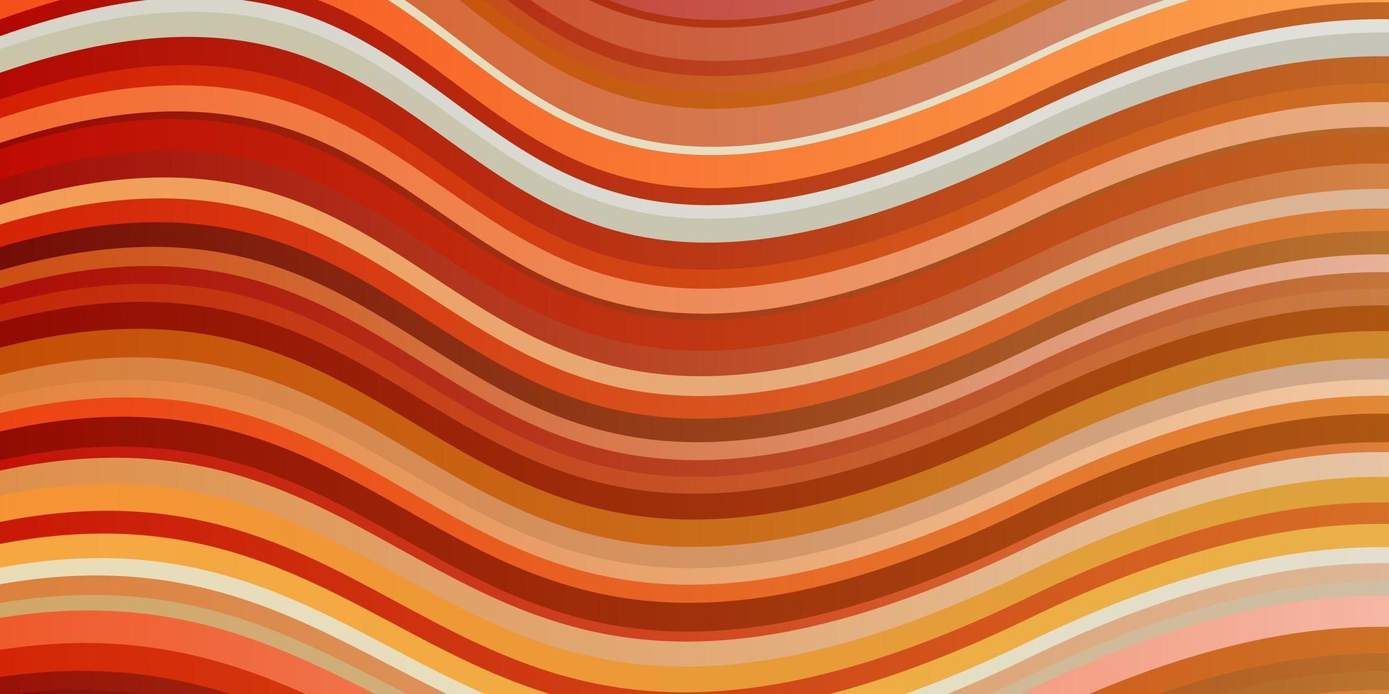 hellorange Vektorschablone mit Linien. vektor