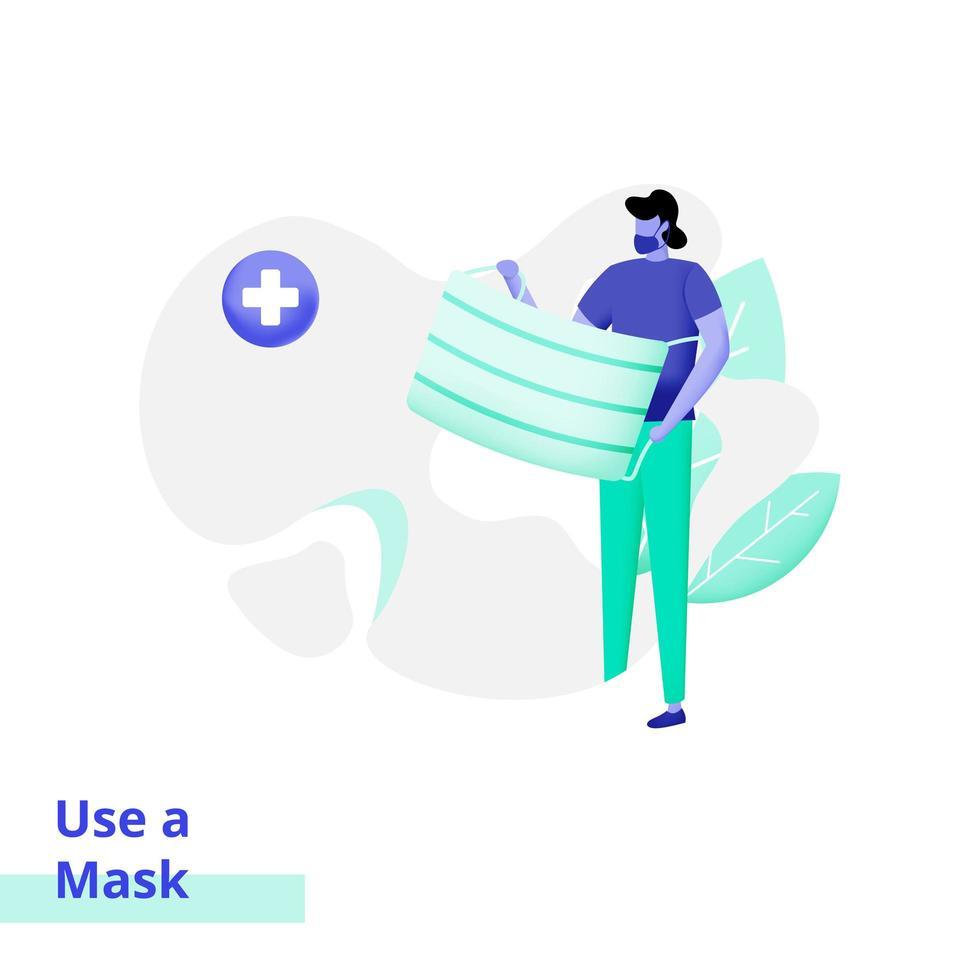 illustration av människor som använder en mask vektor