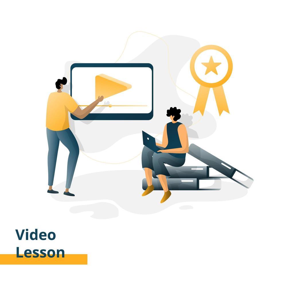 målsidans videolektion vektor