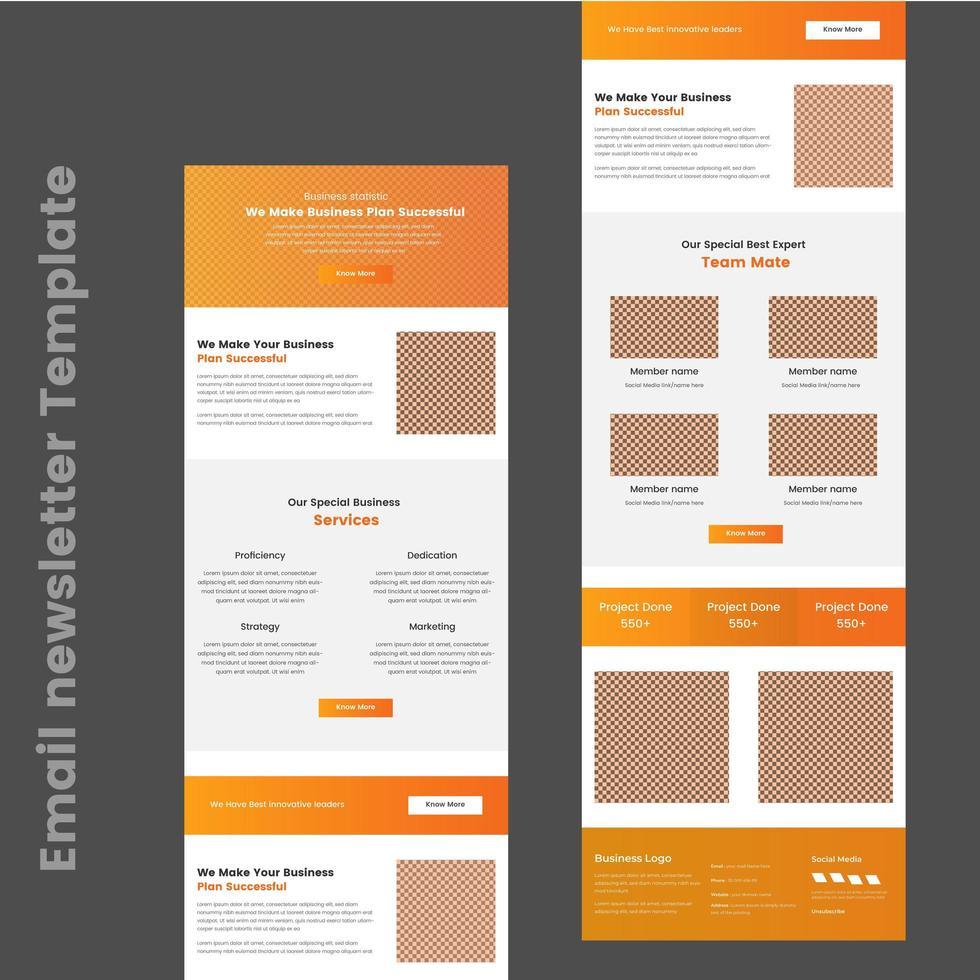 E-Mail-Vorlage für Mehrzweck-Business-B2B-E-Newsletter vektor