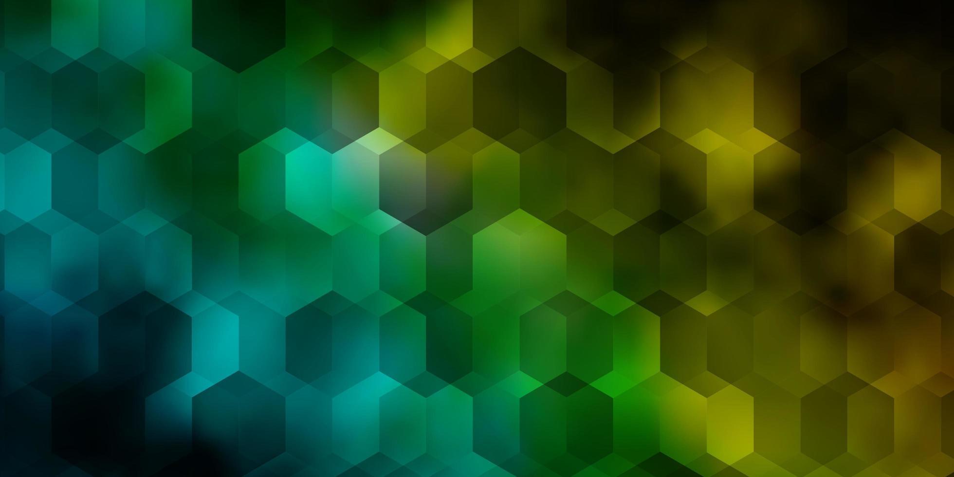 hellblaue, grüne Vektorschablone im sechseckigen Stil. vektor