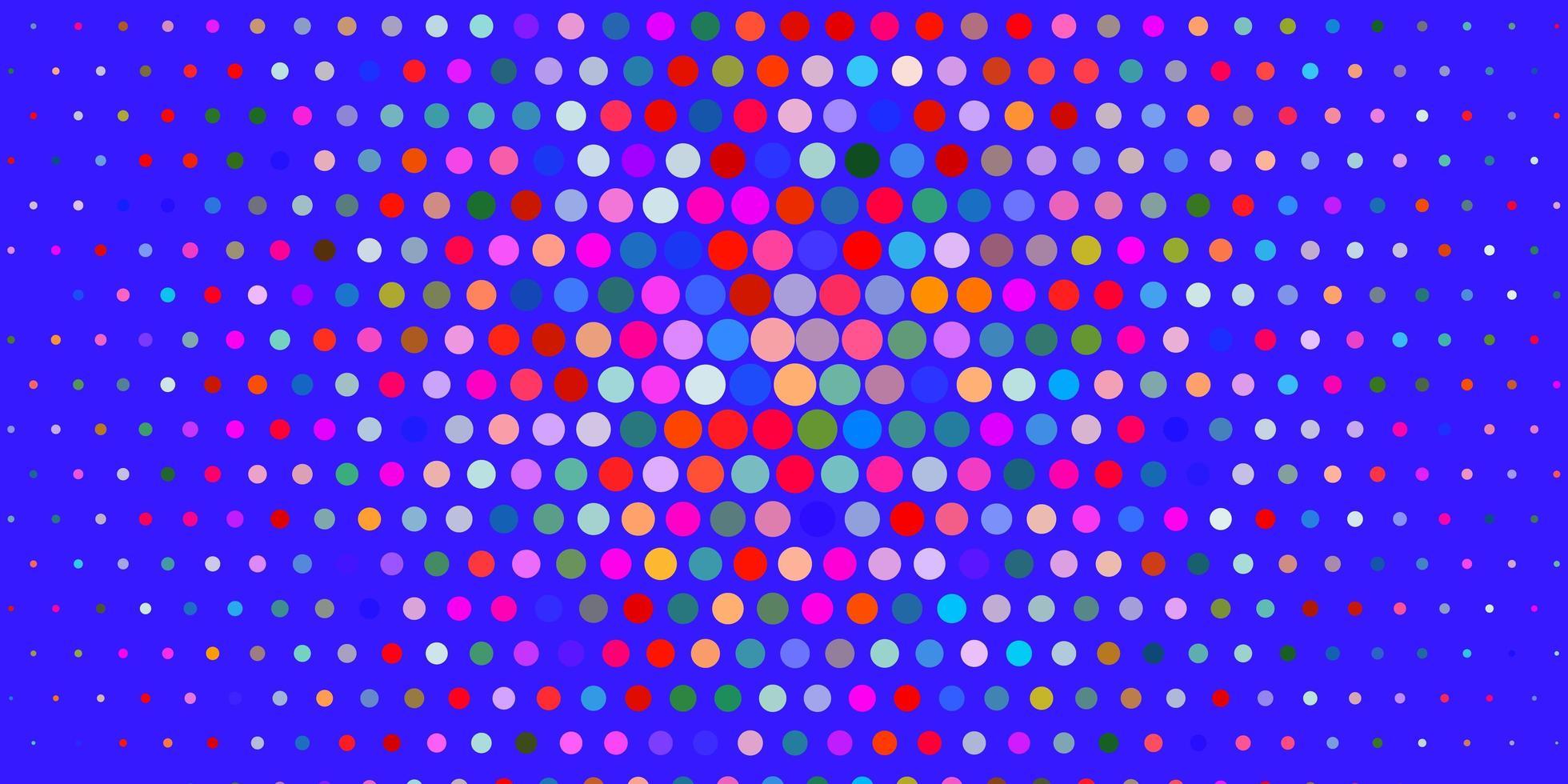 heller mehrfarbiger Vektorhintergrund mit Blasen. vektor