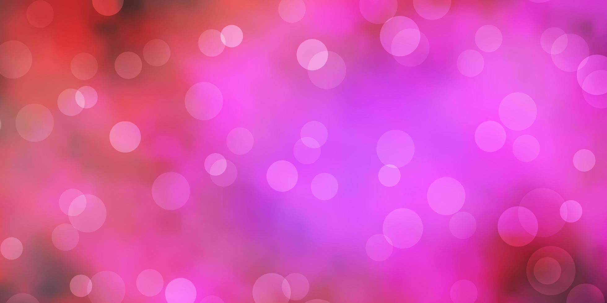 mörkrosa vektorlayout med cirkelformer. vektor