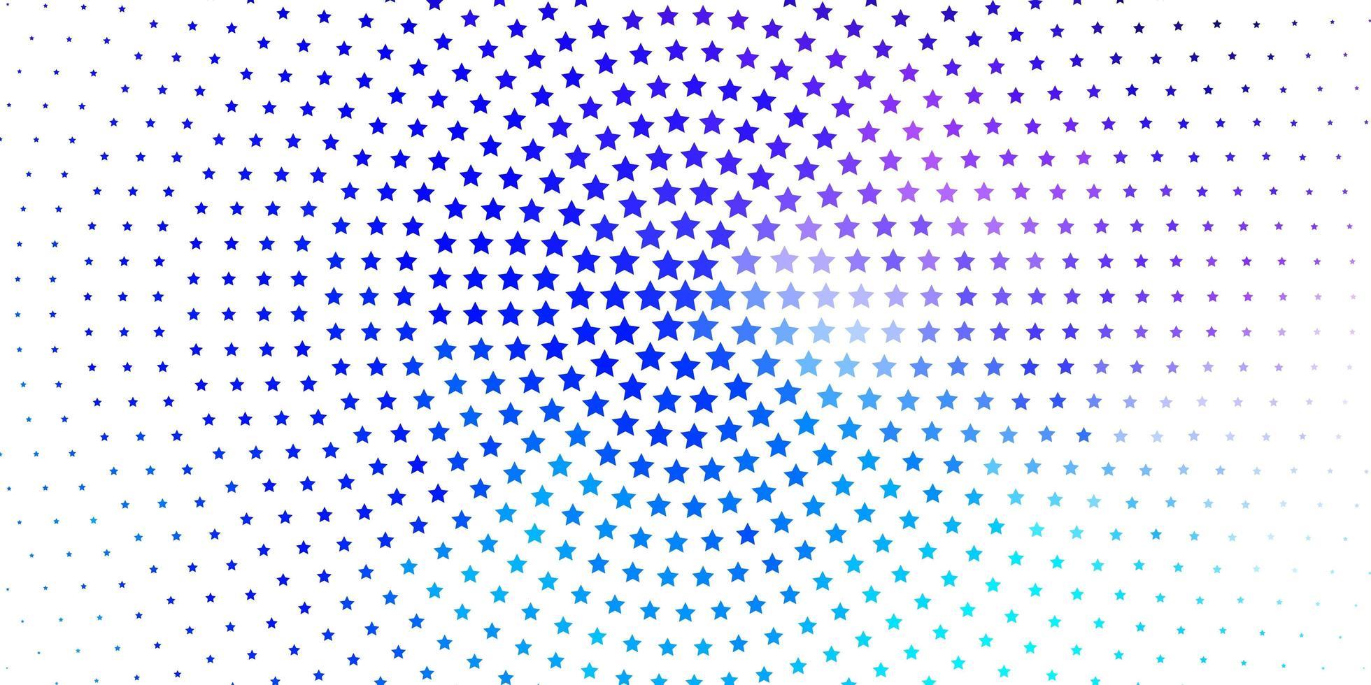 hellrosa, blauer Vektorhintergrund mit bunten Sternen. vektor