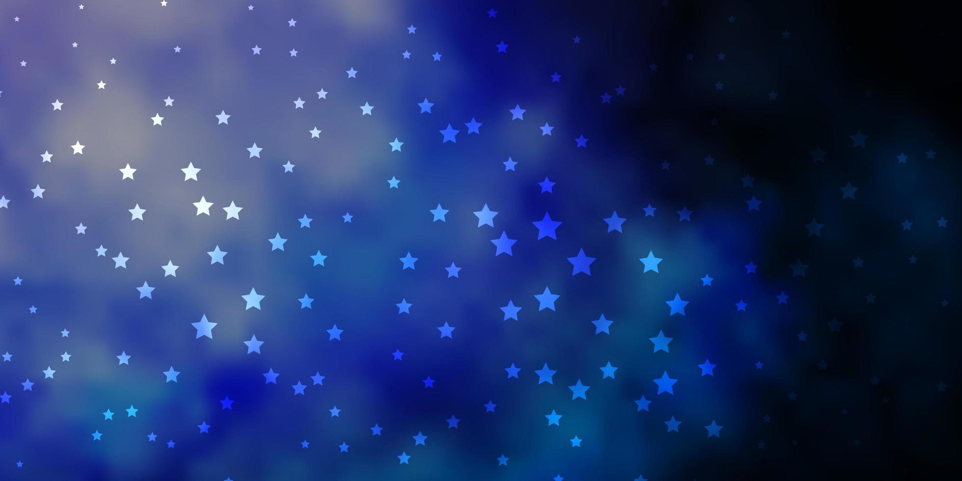 dunkelvioletter Vektorhintergrund mit bunten Sternen. vektor