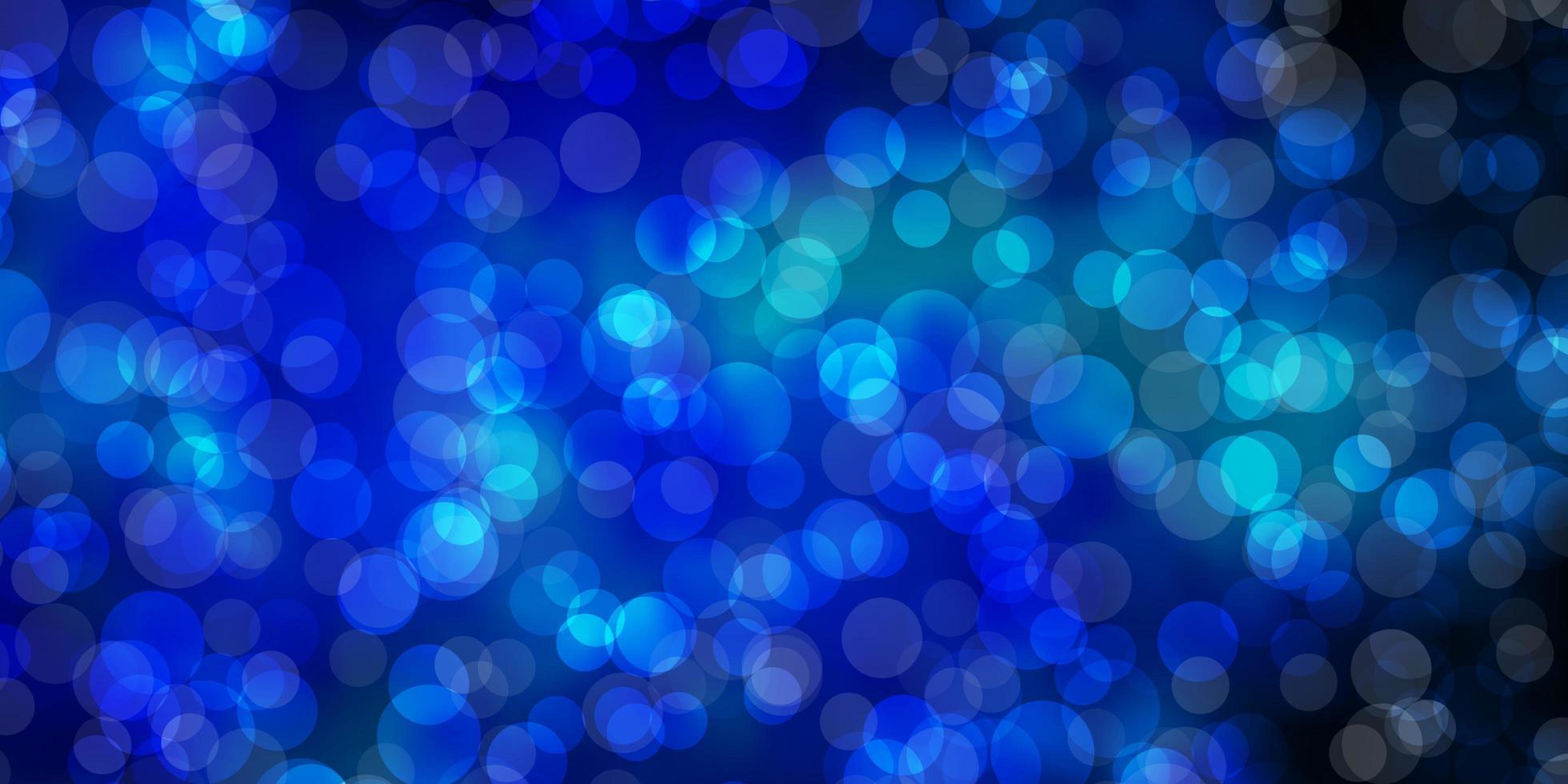 dunkelblaues Vektorlayout mit Kreisen. vektor