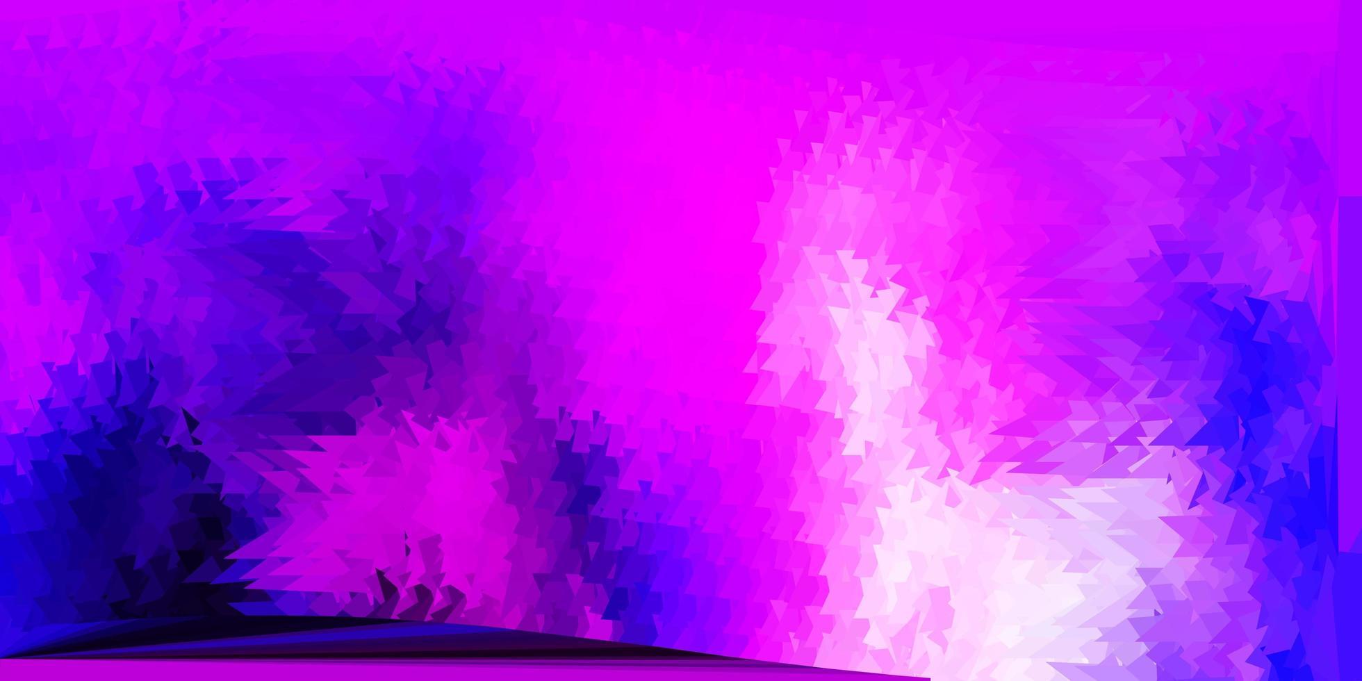 hellviolettes, rosa Vektor polygonales Muster.