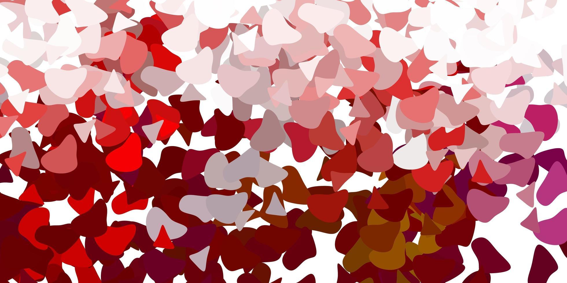 leichtes mehrfarbiges Vektormuster mit abstrakten Formen. vektor