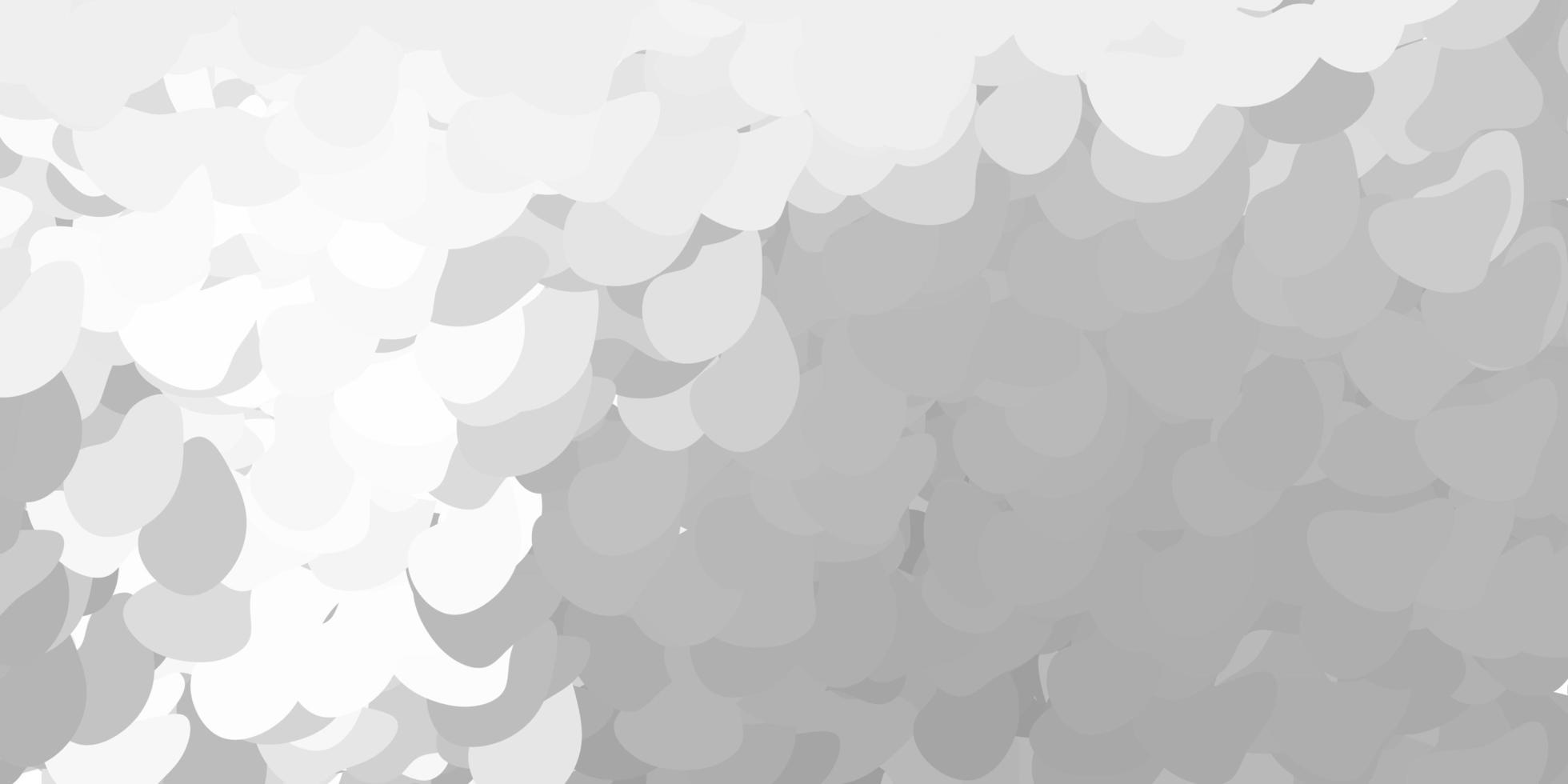 dunkelgraues Vektormuster mit abstrakten Formen. vektor