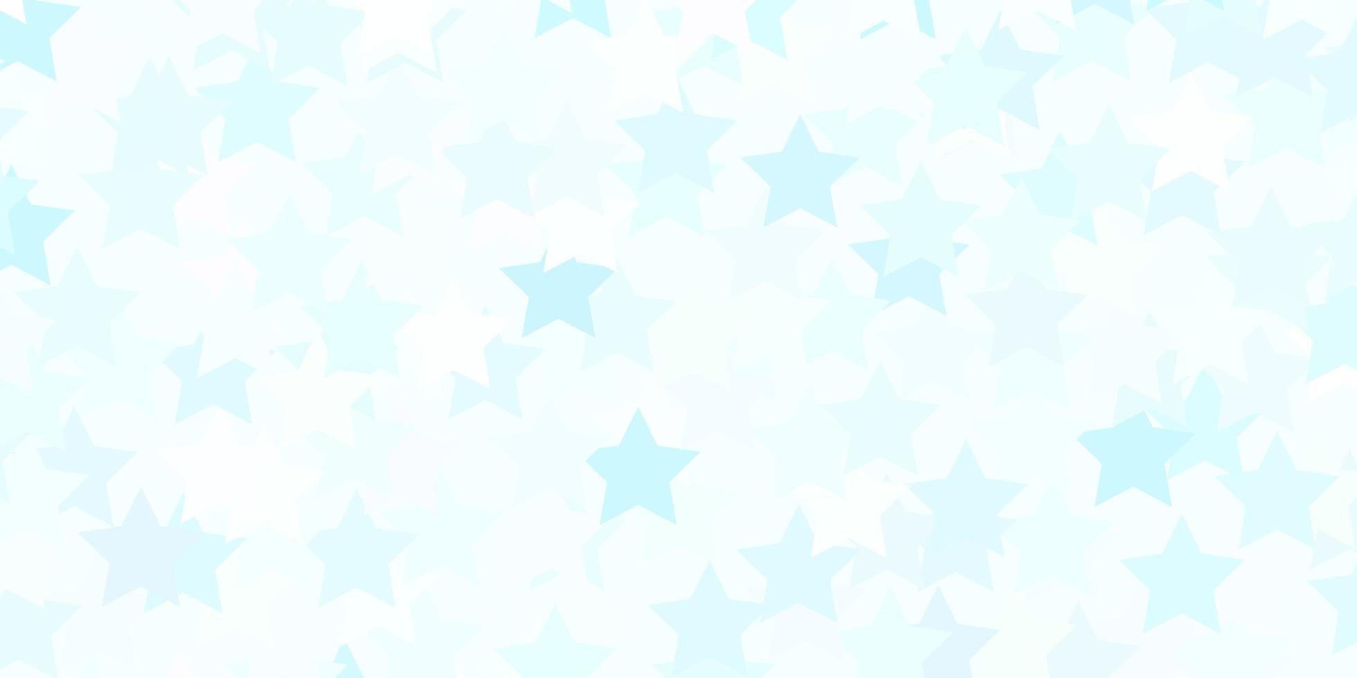 hellblaues Vektorlayout mit hellen Sternen. vektor